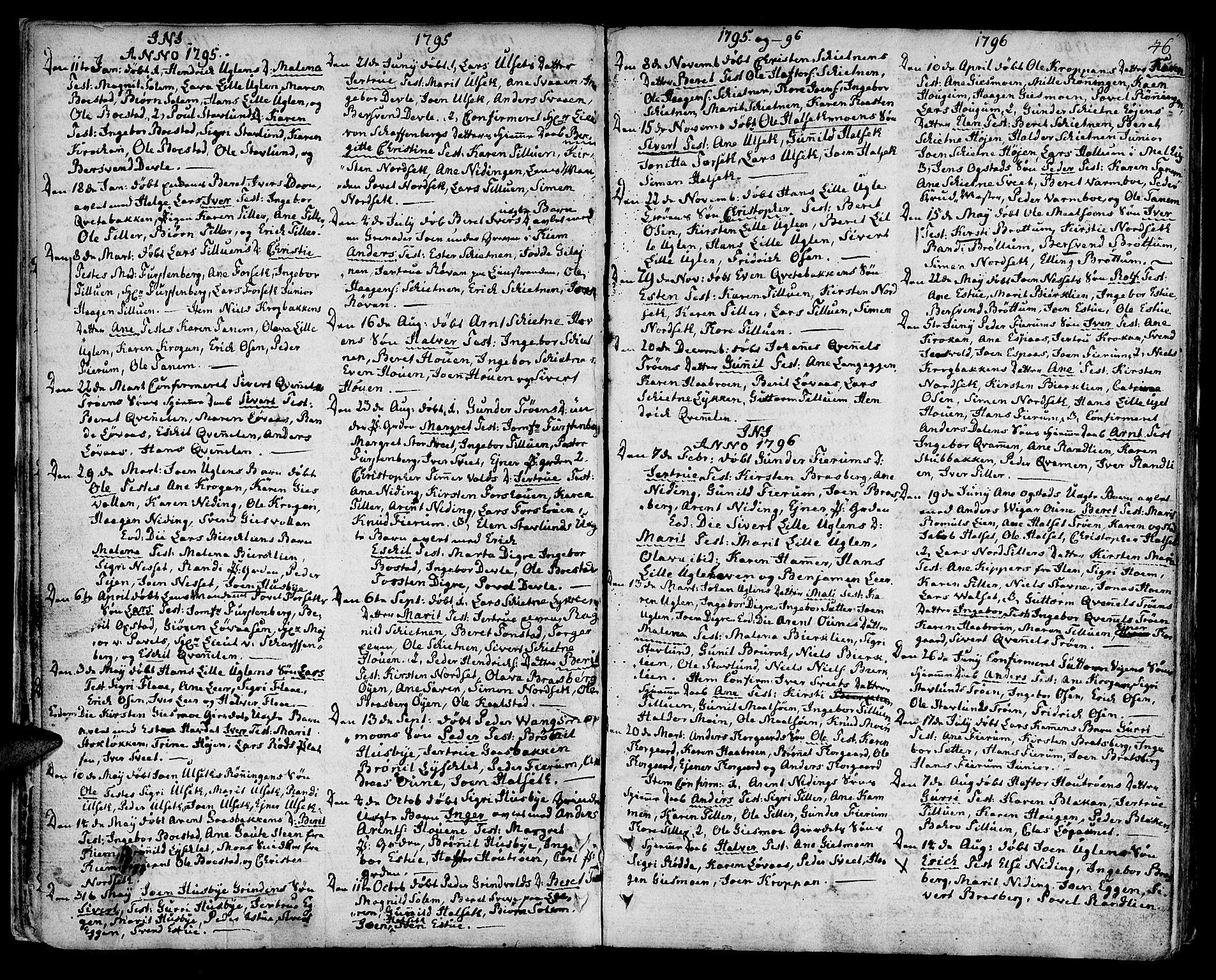 SAT, Ministerialprotokoller, klokkerbøker og fødselsregistre - Sør-Trøndelag, 618/L0438: Ministerialbok nr. 618A03, 1783-1815, s. 46