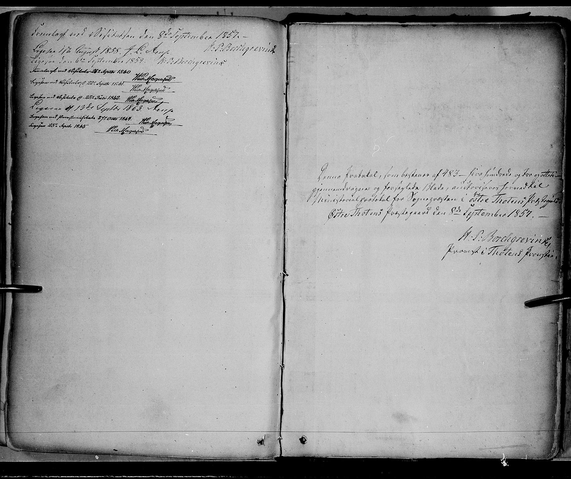 SAH, Østre Toten prestekontor, Ministerialbok nr. 4, 1857-1865