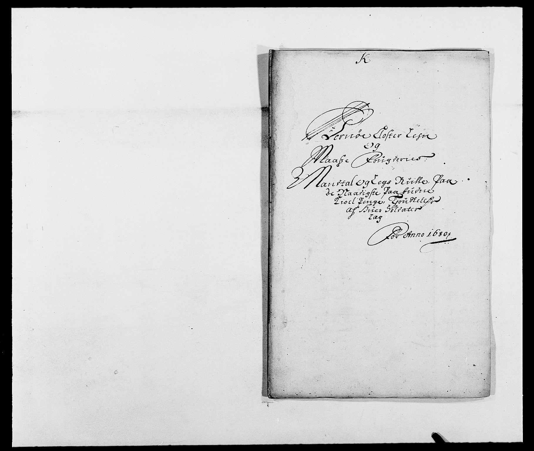 RA, Rentekammeret inntil 1814, Reviderte regnskaper, Fogderegnskap, R02/L0101: Fogderegnskap Moss og Verne kloster, 1680, s. 227