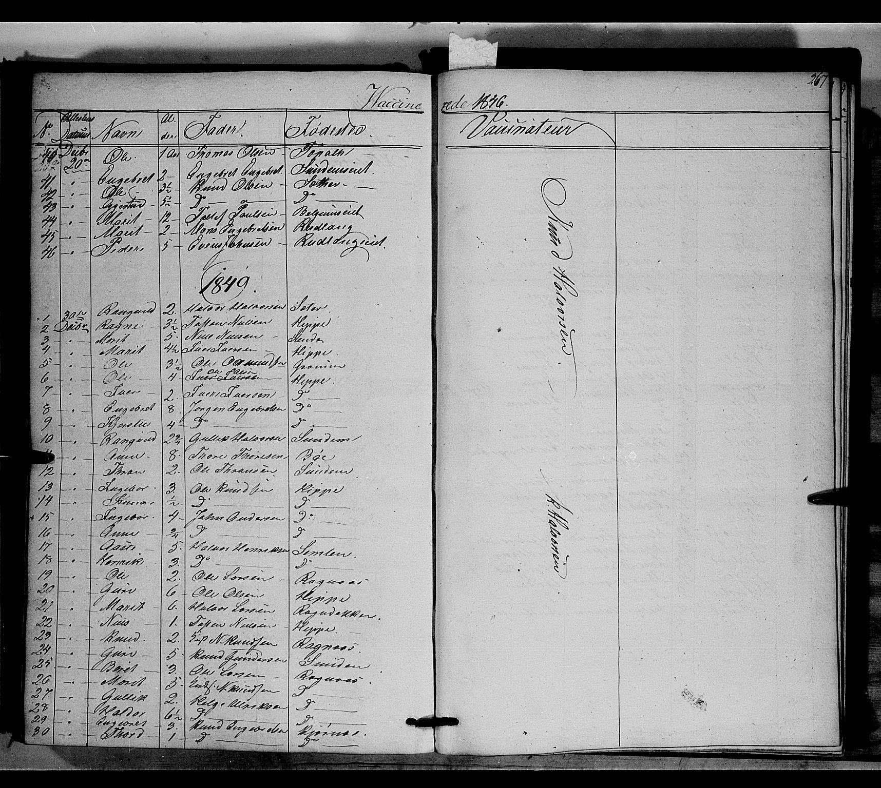SAH, Nord-Aurdal prestekontor, Ministerialbok nr. 6, 1842-1863, s. 267