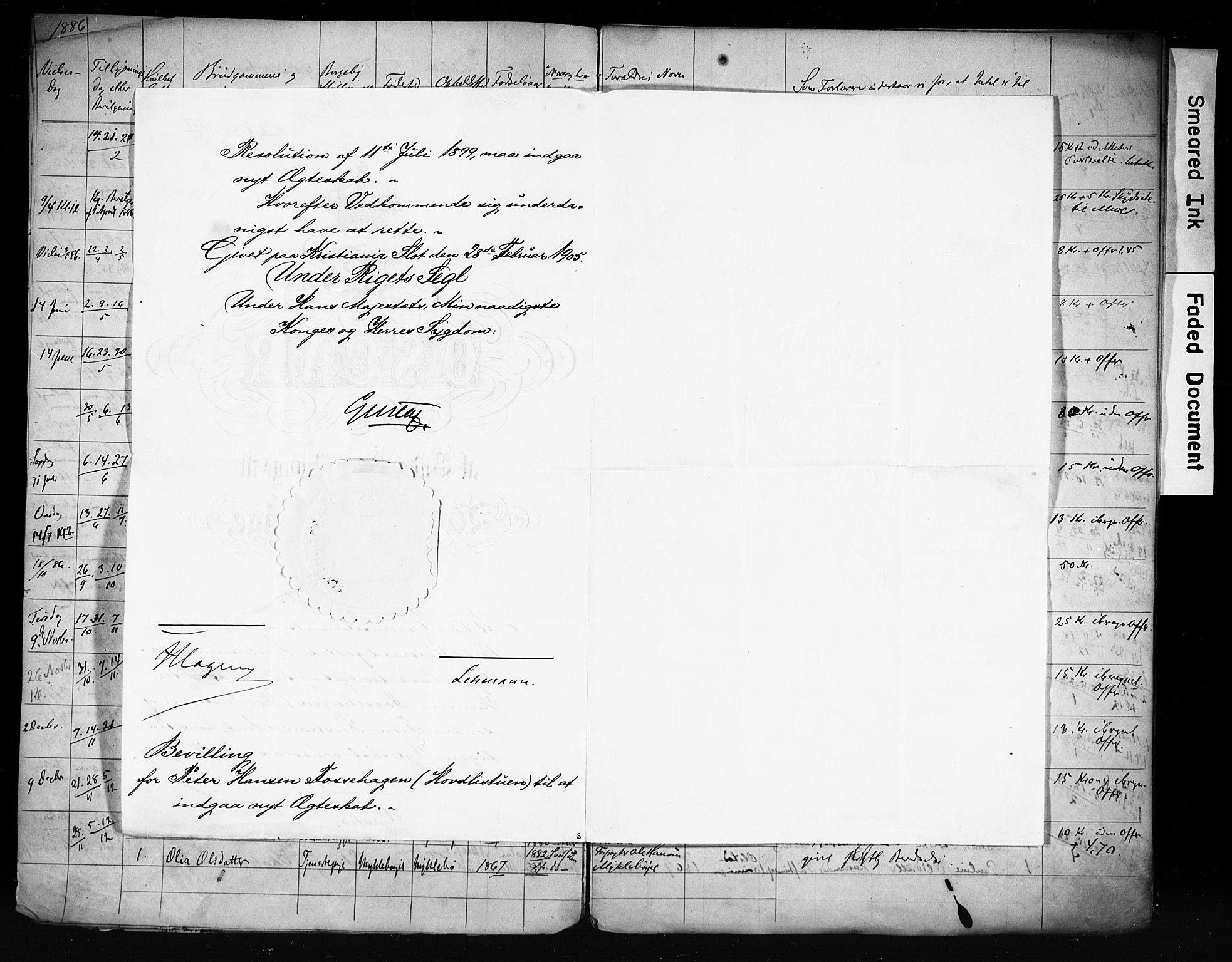 SAH, Vestre Gausdal prestekontor, Lysningsprotokoll nr. 1, 1885-1910