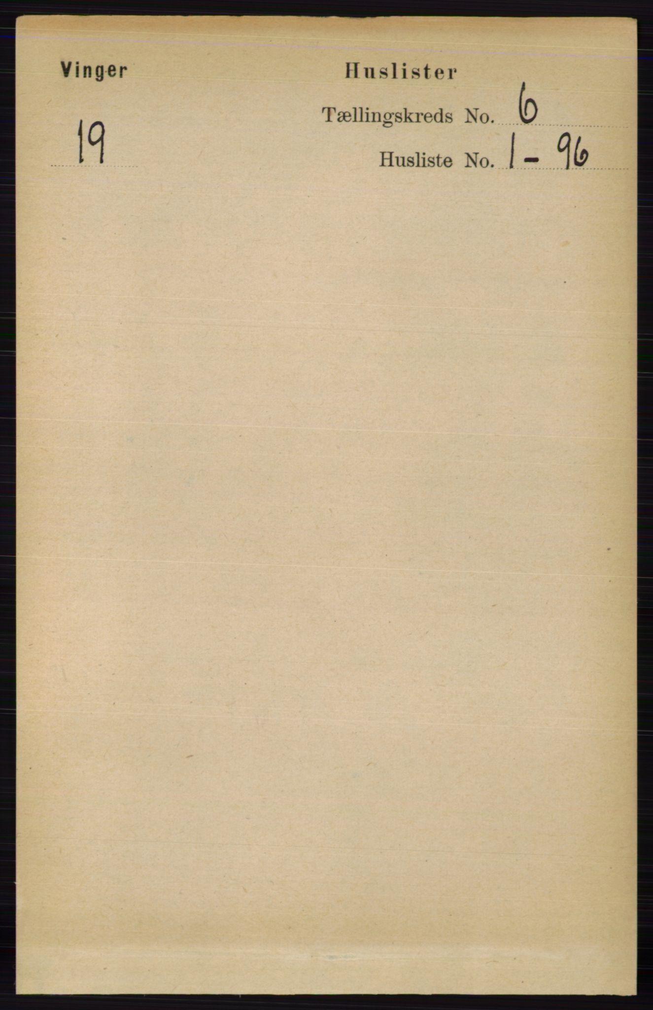 RA, Folketelling 1891 for 0421 Vinger herred, 1891, s. 2508