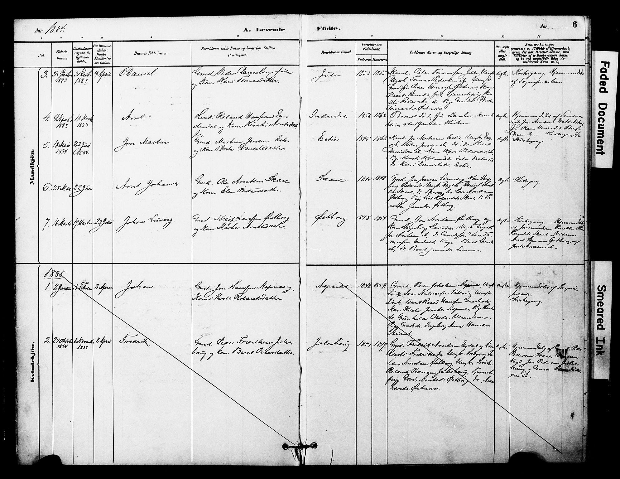 SAT, Ministerialprotokoller, klokkerbøker og fødselsregistre - Nord-Trøndelag, 757/L0505: Ministerialbok nr. 757A01, 1882-1904, s. 6