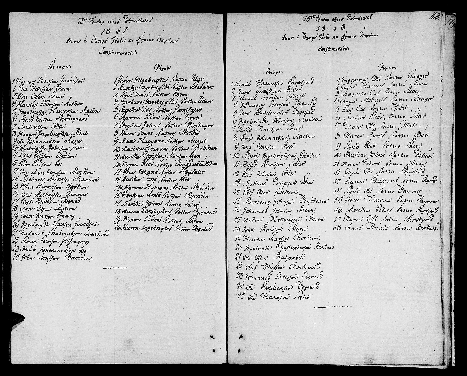 SAT, Ministerialprotokoller, klokkerbøker og fødselsregistre - Sør-Trøndelag, 678/L0894: Ministerialbok nr. 678A04, 1806-1815, s. 163