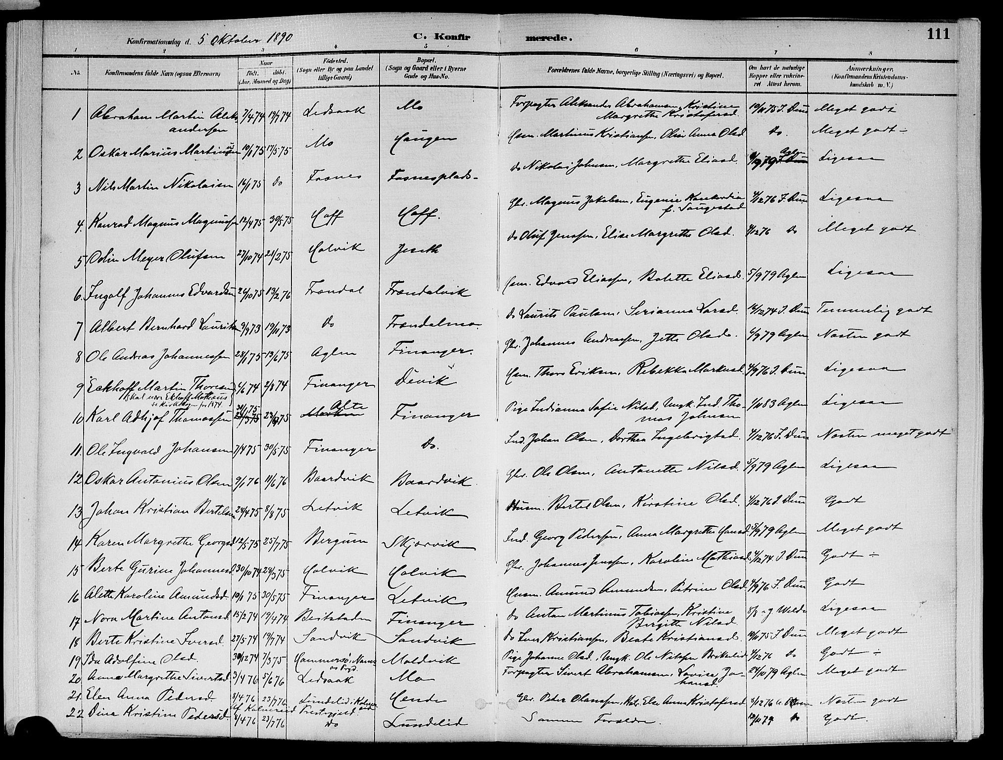 SAT, Ministerialprotokoller, klokkerbøker og fødselsregistre - Nord-Trøndelag, 773/L0617: Ministerialbok nr. 773A08, 1887-1910, s. 111
