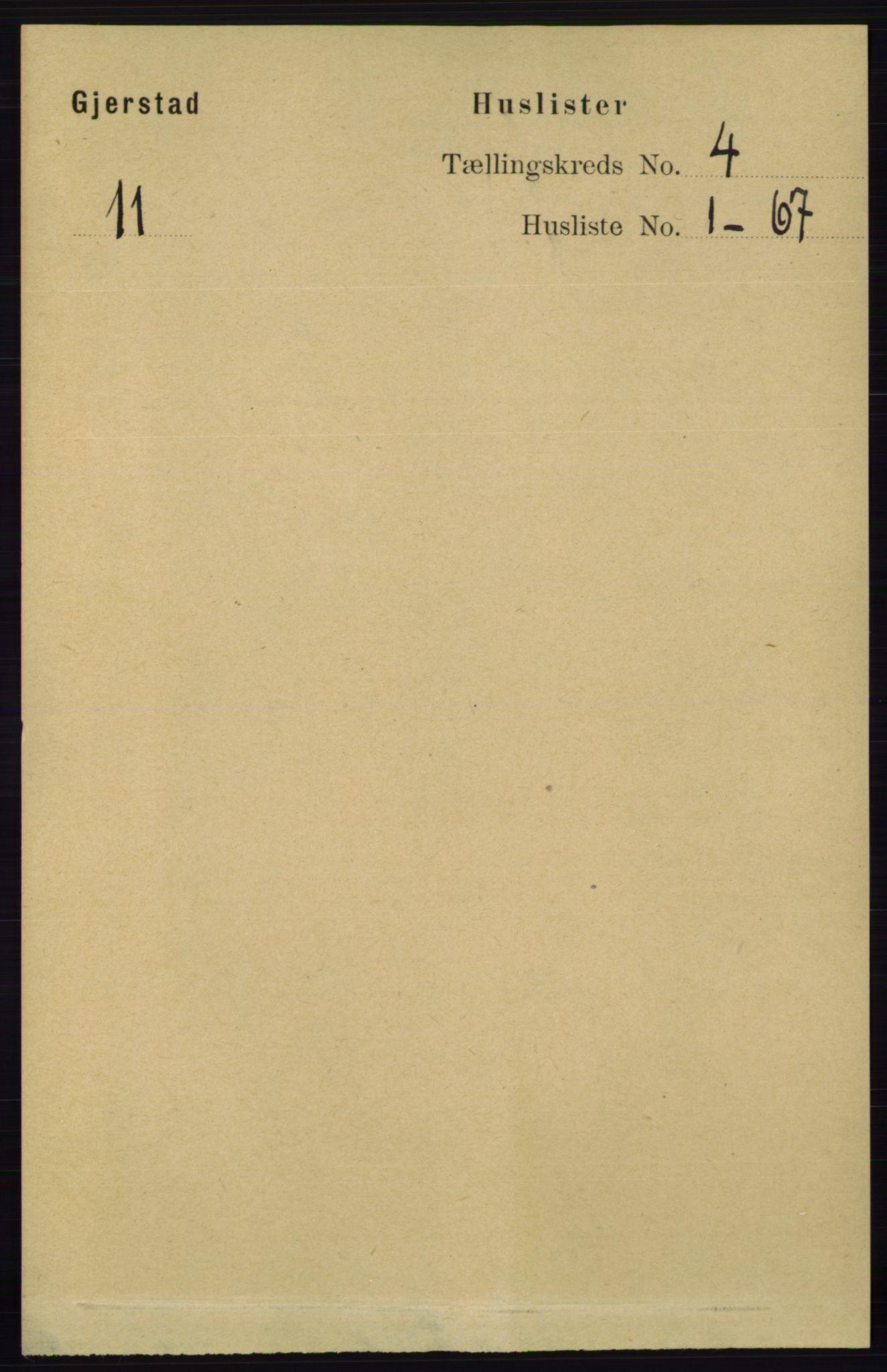 RA, Folketelling 1891 for 0911 Gjerstad herred, 1891, s. 1437