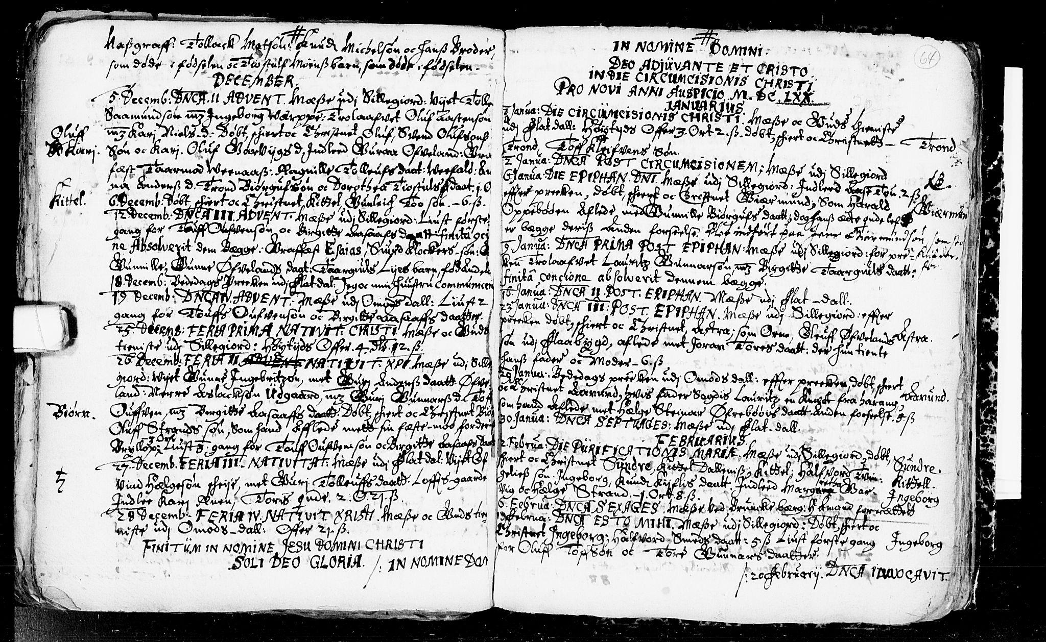 SAKO, Seljord kirkebøker, F/Fa/L0001: Ministerialbok nr. I 1, 1654-1686, s. 64