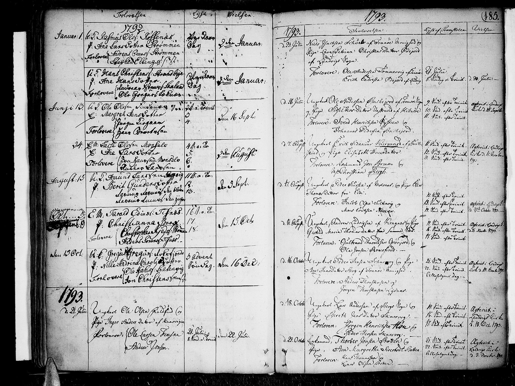 SATØ, Lenvik sokneprestembete, H/Ha: Ministerialbok nr. 2, 1784-1820, s. 185