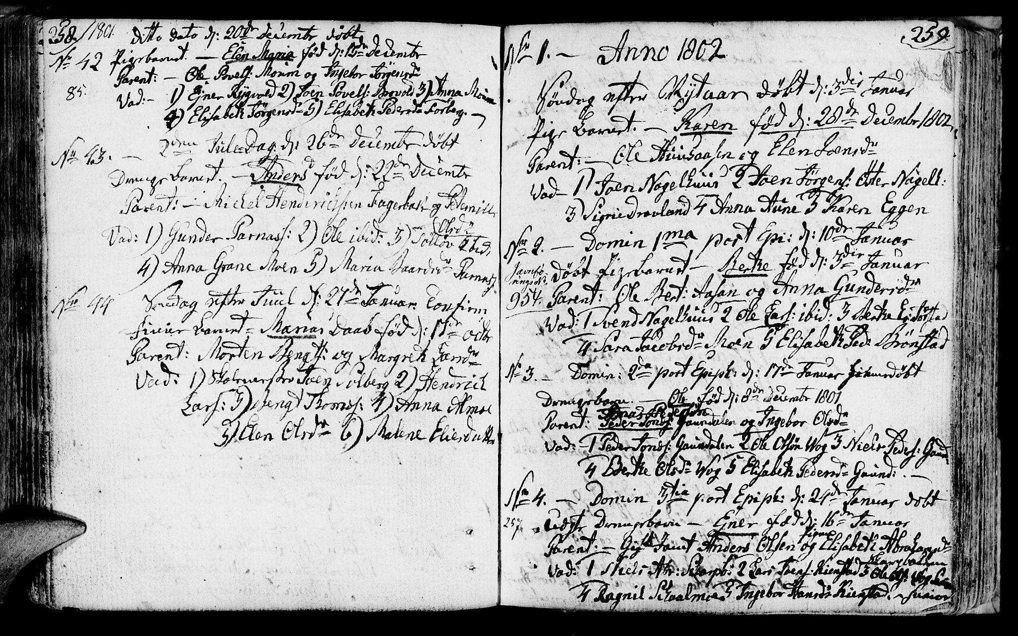 SAT, Ministerialprotokoller, klokkerbøker og fødselsregistre - Nord-Trøndelag, 749/L0468: Ministerialbok nr. 749A02, 1787-1817, s. 258-259