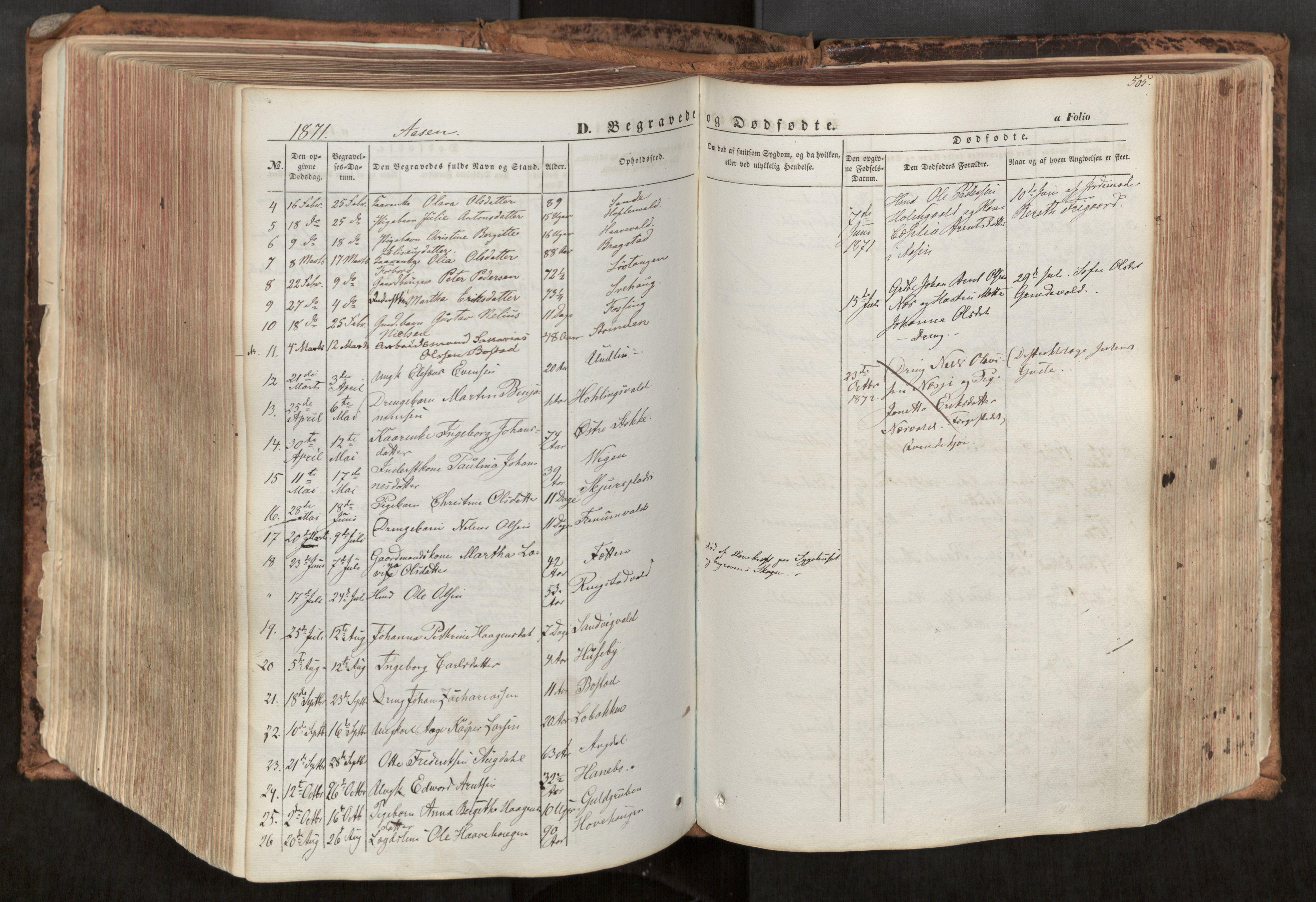 SAT, Ministerialprotokoller, klokkerbøker og fødselsregistre - Nord-Trøndelag, 713/L0116: Ministerialbok nr. 713A07, 1850-1877, s. 505