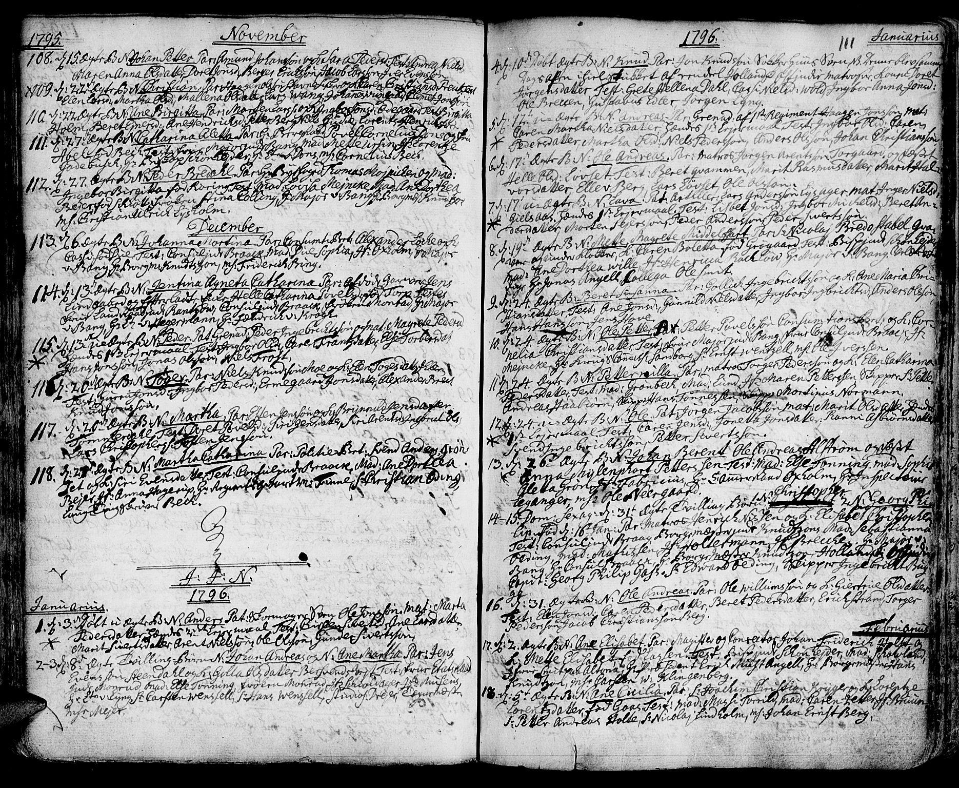 SAT, Ministerialprotokoller, klokkerbøker og fødselsregistre - Sør-Trøndelag, 601/L0039: Ministerialbok nr. 601A07, 1770-1819, s. 111