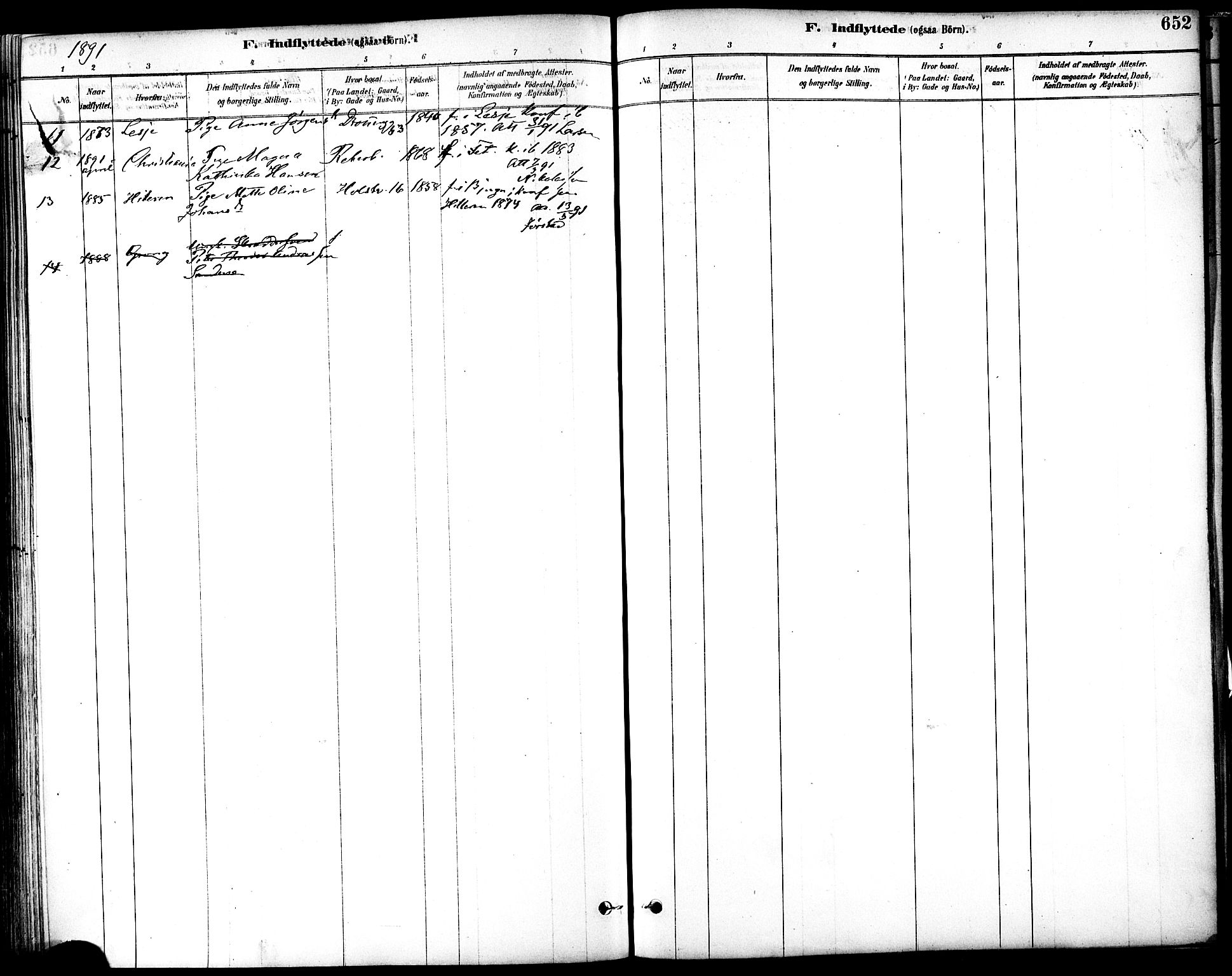 SAT, Ministerialprotokoller, klokkerbøker og fødselsregistre - Sør-Trøndelag, 601/L0058: Ministerialbok nr. 601A26, 1877-1891, s. 652