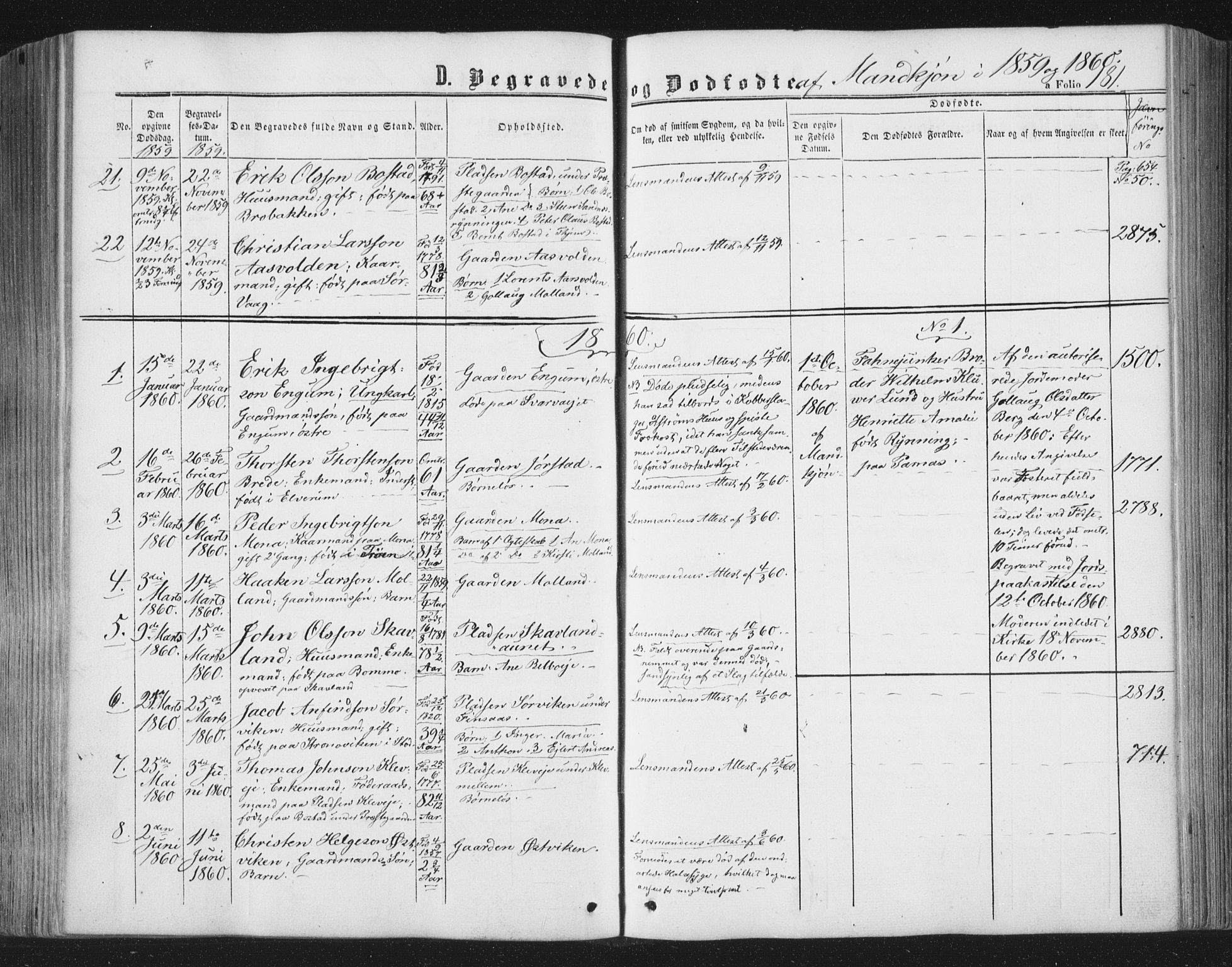 SAT, Ministerialprotokoller, klokkerbøker og fødselsregistre - Nord-Trøndelag, 749/L0472: Ministerialbok nr. 749A06, 1857-1873, s. 181