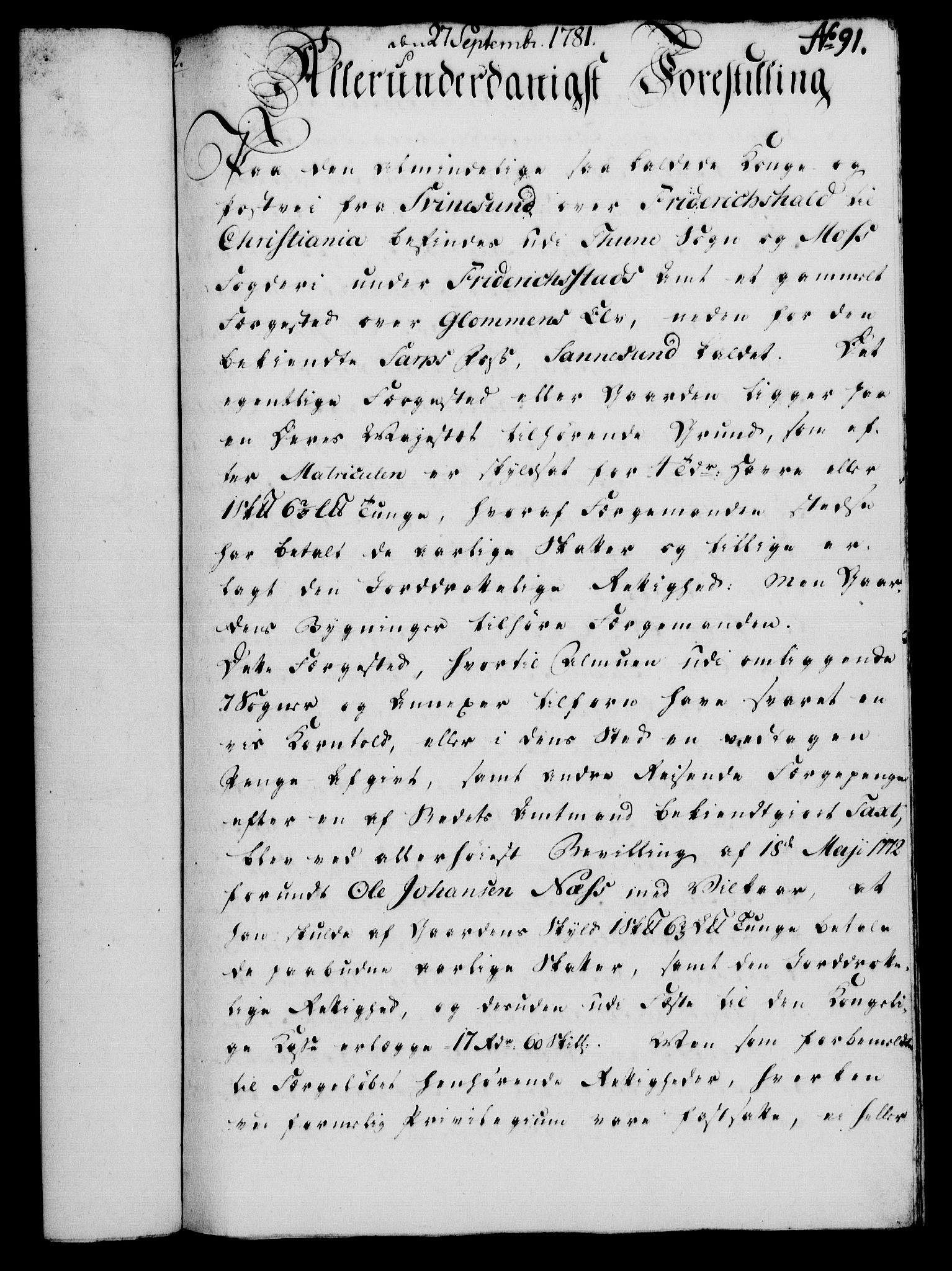 RA, Rentekammeret, Kammerkanselliet, G/Gf/Gfa/L0063: Norsk relasjons- og resolusjonsprotokoll (merket RK 52.63), 1781, s. 1015