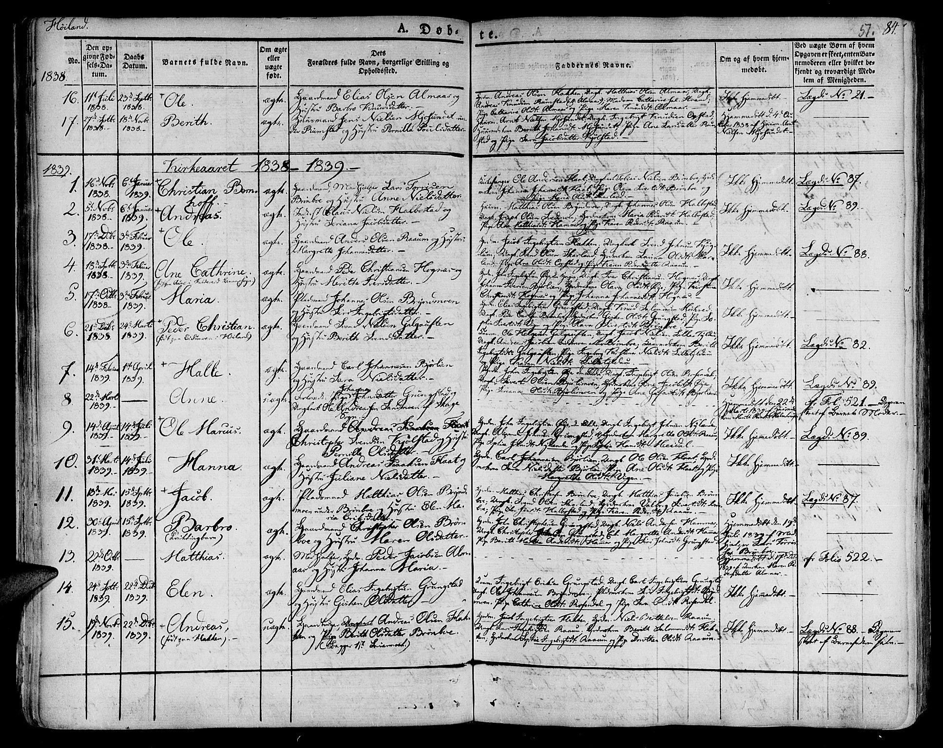 SAT, Ministerialprotokoller, klokkerbøker og fødselsregistre - Nord-Trøndelag, 758/L0510: Ministerialbok nr. 758A01 /2, 1821-1841, s. 51