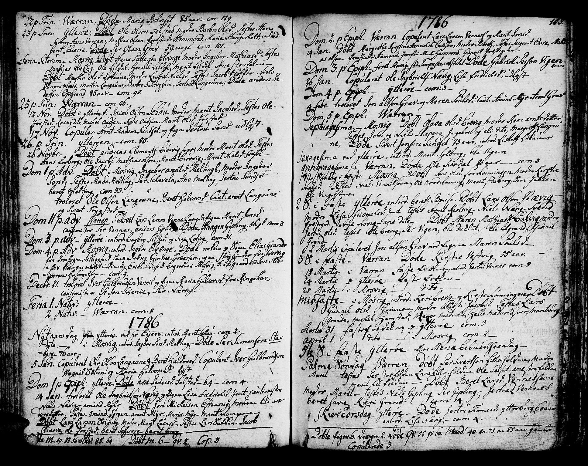 SAT, Ministerialprotokoller, klokkerbøker og fødselsregistre - Nord-Trøndelag, 722/L0216: Ministerialbok nr. 722A03, 1756-1816, s. 105