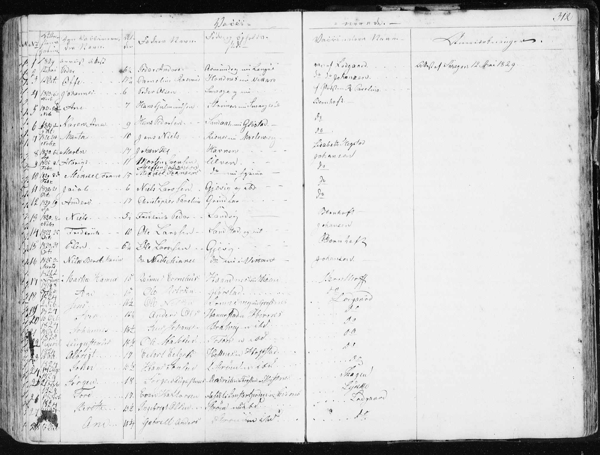 SAT, Ministerialprotokoller, klokkerbøker og fødselsregistre - Sør-Trøndelag, 634/L0528: Ministerialbok nr. 634A04, 1827-1842, s. 312