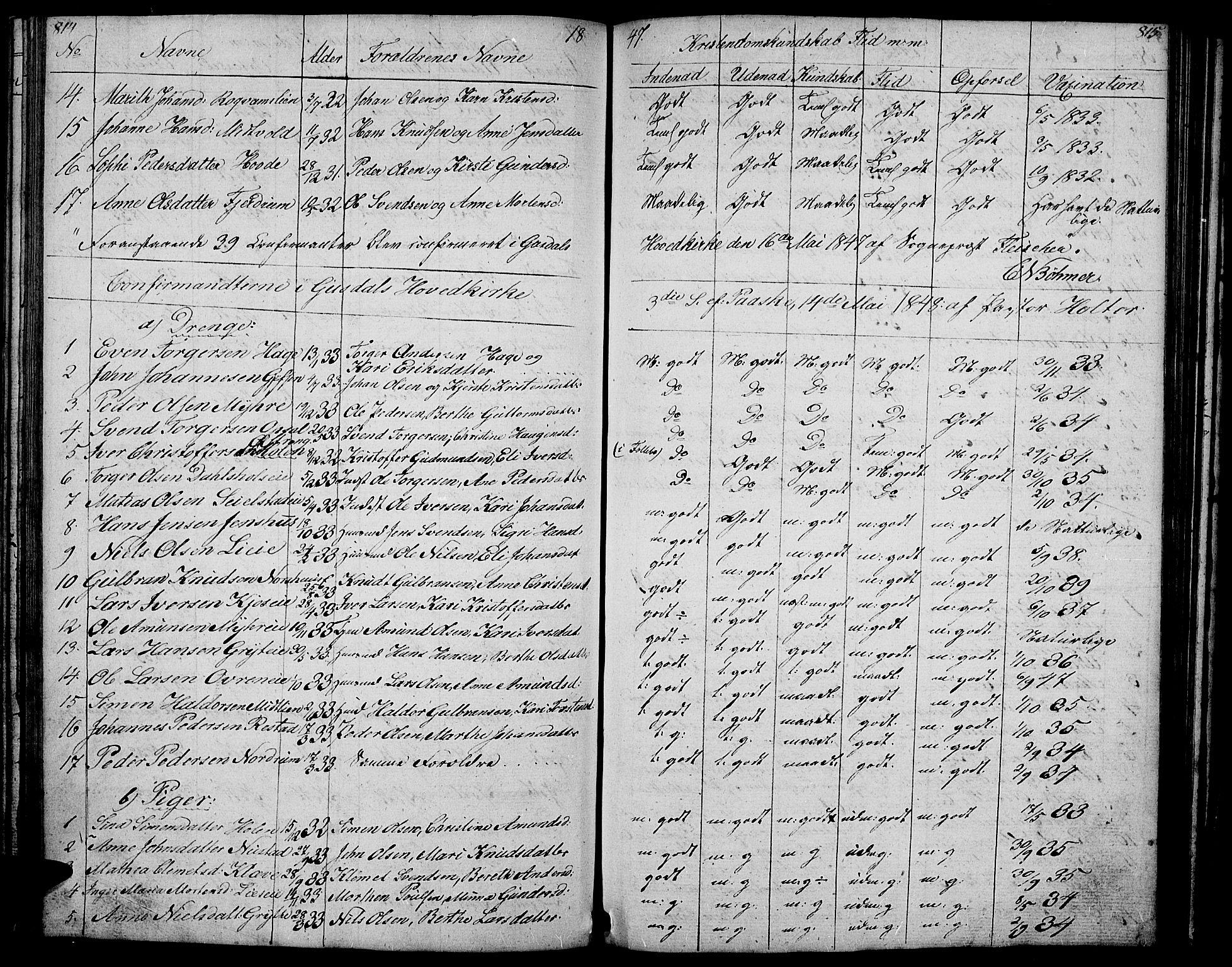 SAH, Gausdal prestekontor, Klokkerbok nr. 4, 1835-1870, s. 814-815