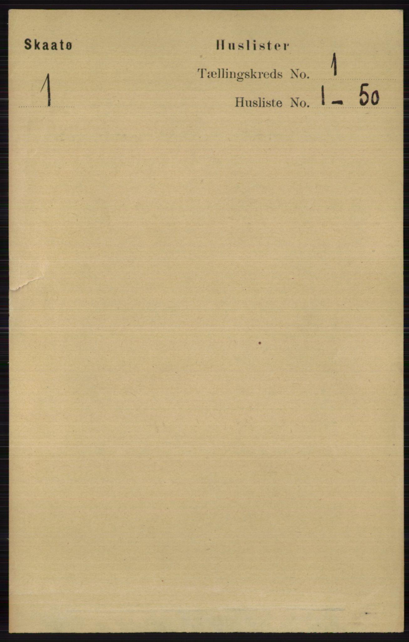RA, Folketelling 1891 for 0815 Skåtøy herred, 1891, s. 39