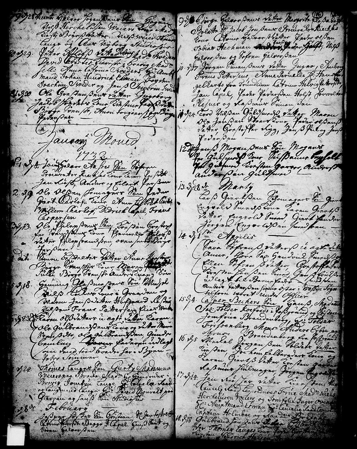 SAKO, Skien kirkebøker, F/Fa/L0002: Ministerialbok nr. 2, 1716-1757, s. 106