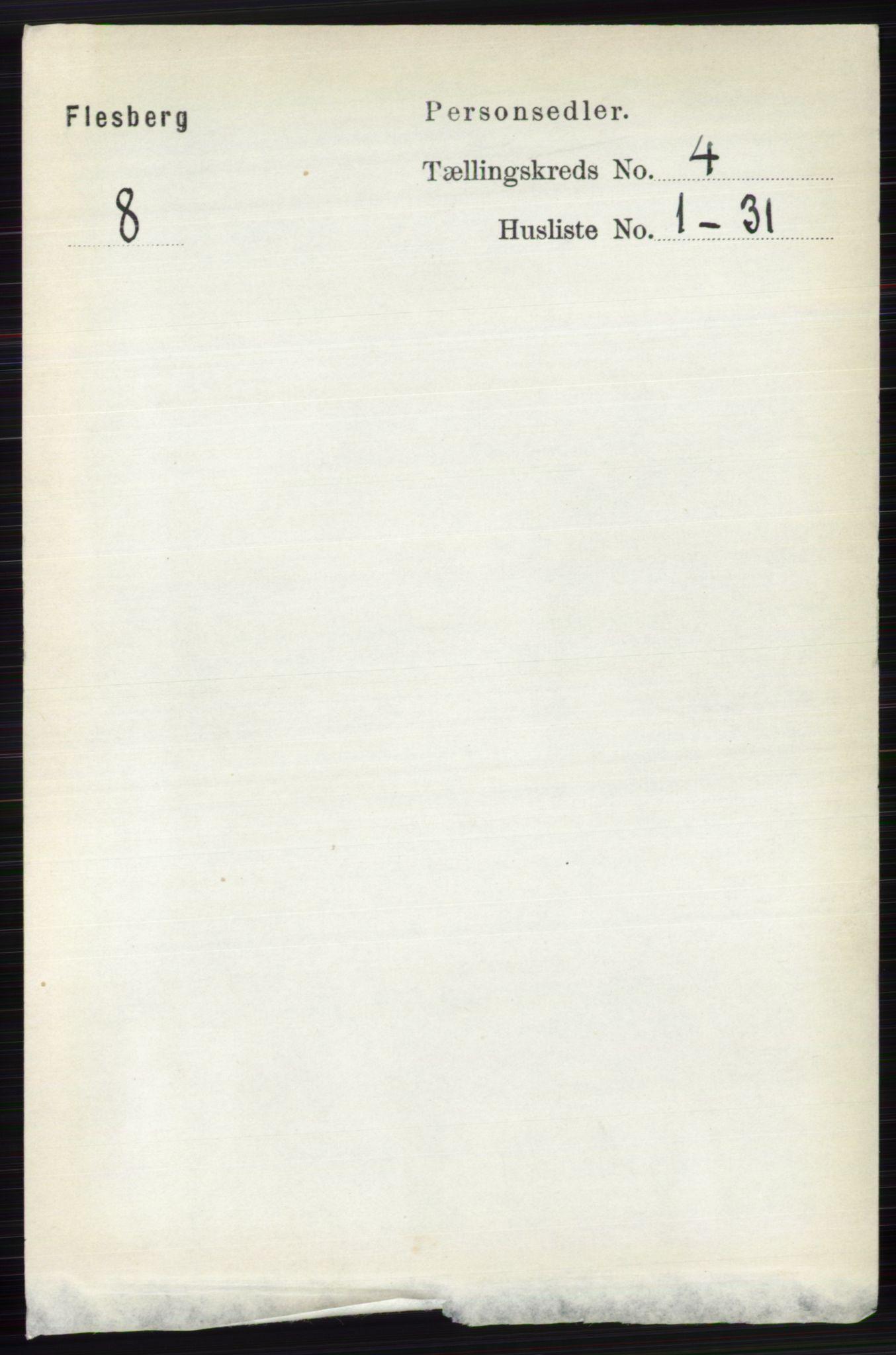 RA, Folketelling 1891 for 0631 Flesberg herred, 1891, s. 519