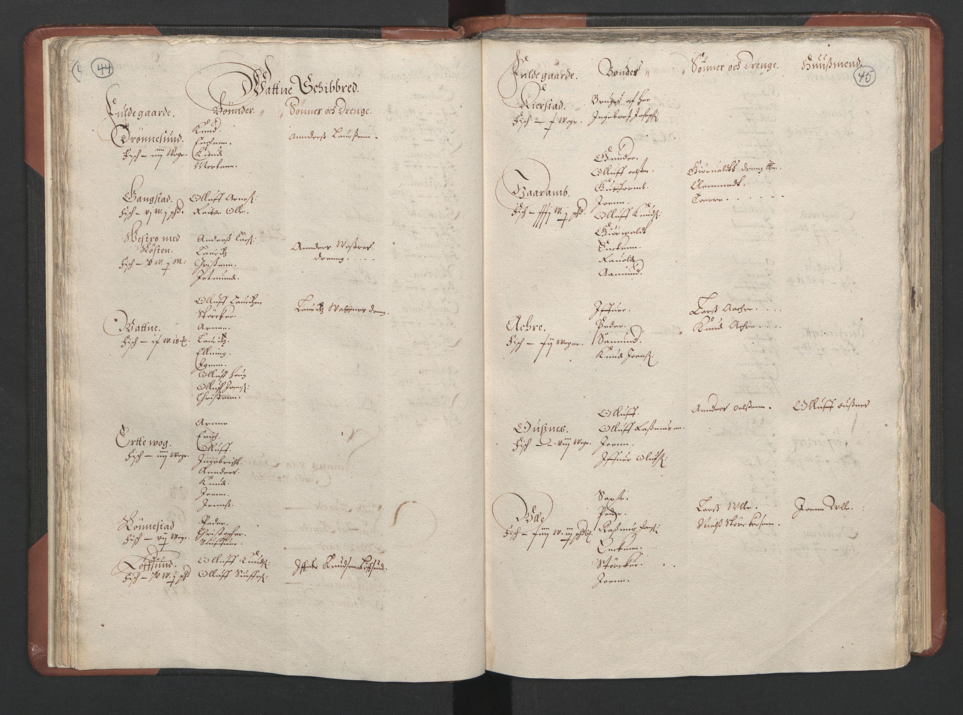 RA, Fogdenes og sorenskrivernes manntall 1664-1666, nr. 16: Romsdal fogderi og Sunnmøre fogderi, 1664-1665, s. 44-45