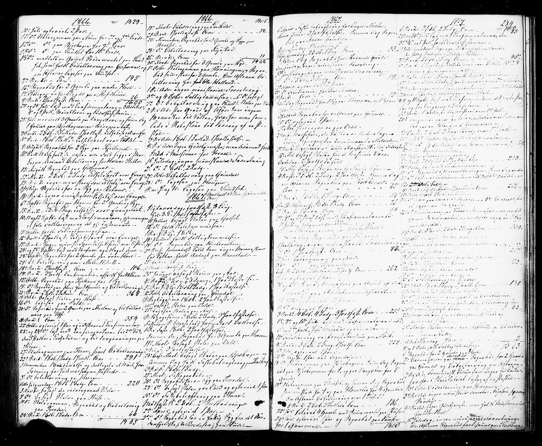 SAT, Ministerialprotokoller, klokkerbøker og fødselsregistre - Sør-Trøndelag, 674/L0870: Ministerialbok nr. 674A02, 1861-1879, s. 284