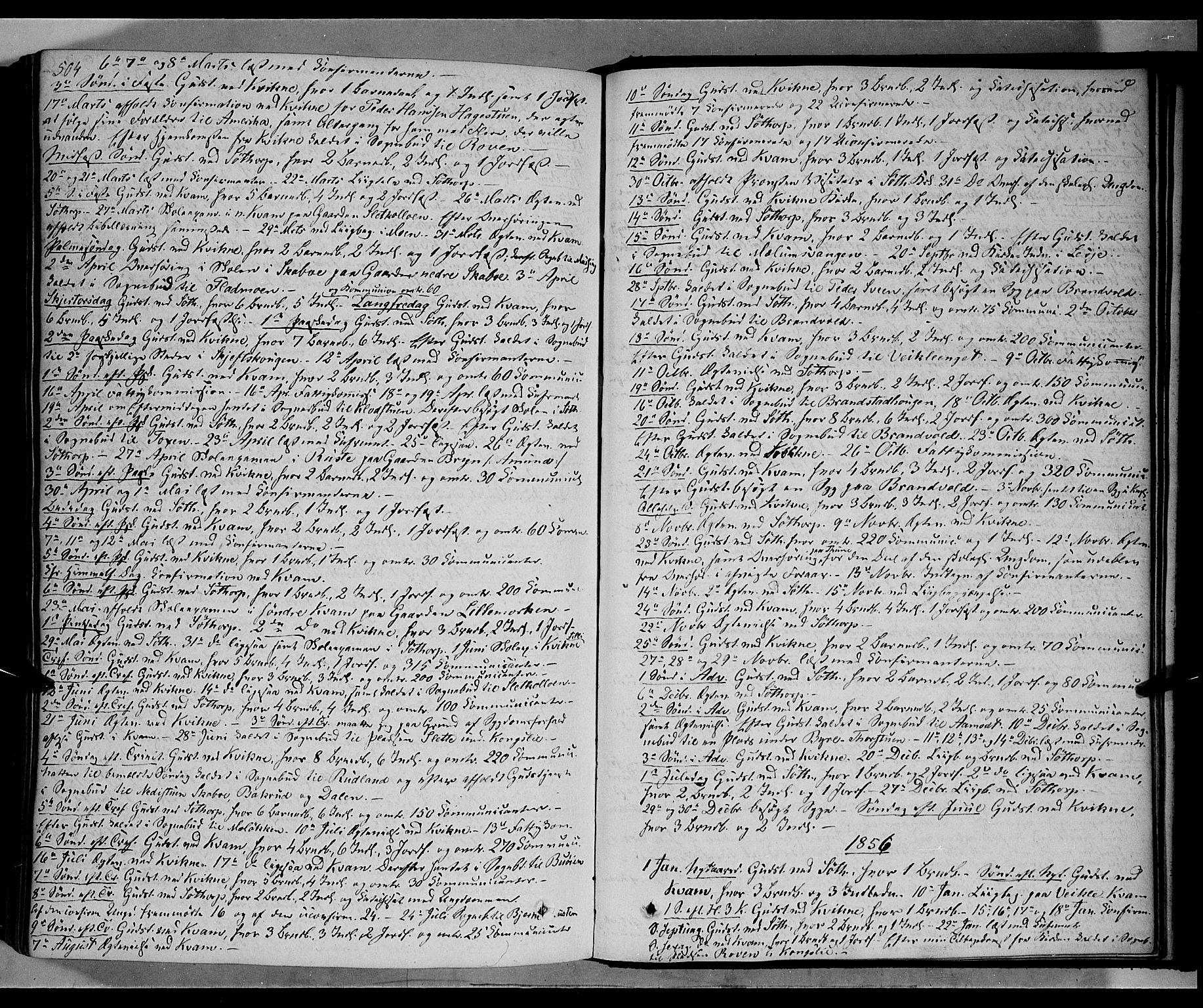 SAH, Nord-Fron prestekontor, Ministerialbok nr. 1, 1851-1864, s. 504