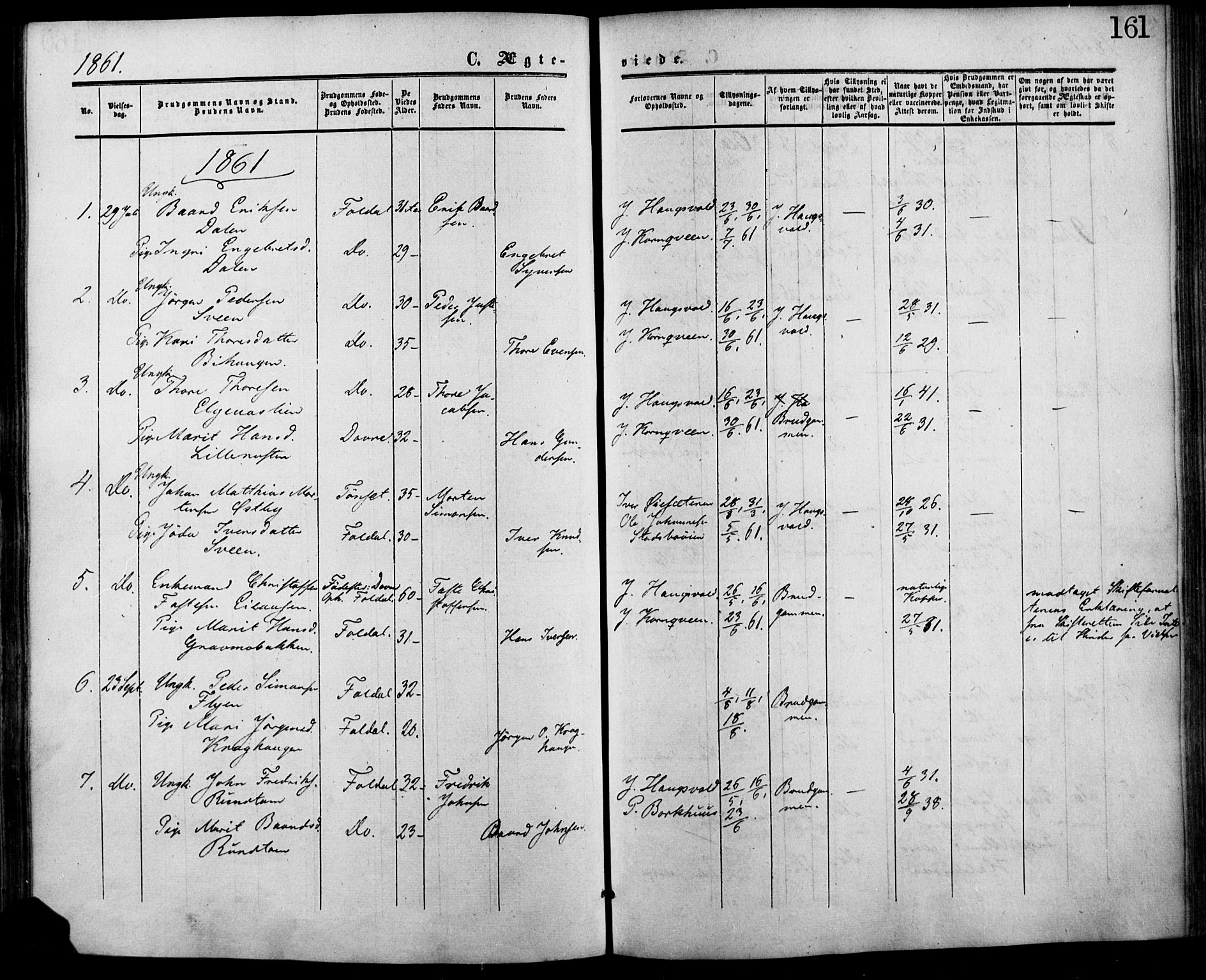 SAH, Lesja prestekontor, Ministerialbok nr. 7, 1854-1862, s. 161