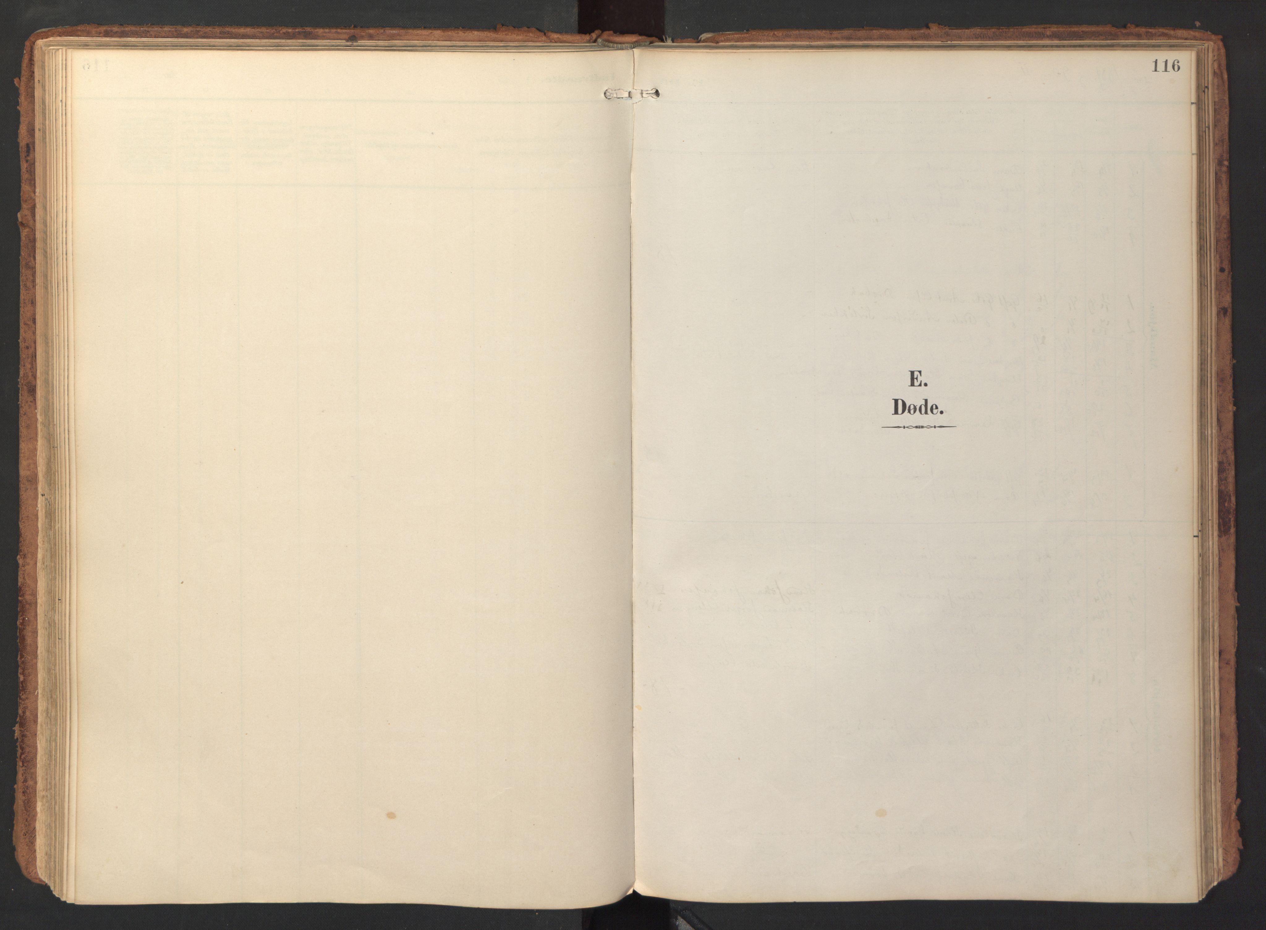 SAT, Ministerialprotokoller, klokkerbøker og fødselsregistre - Sør-Trøndelag, 690/L1050: Ministerialbok nr. 690A01, 1889-1929, s. 116