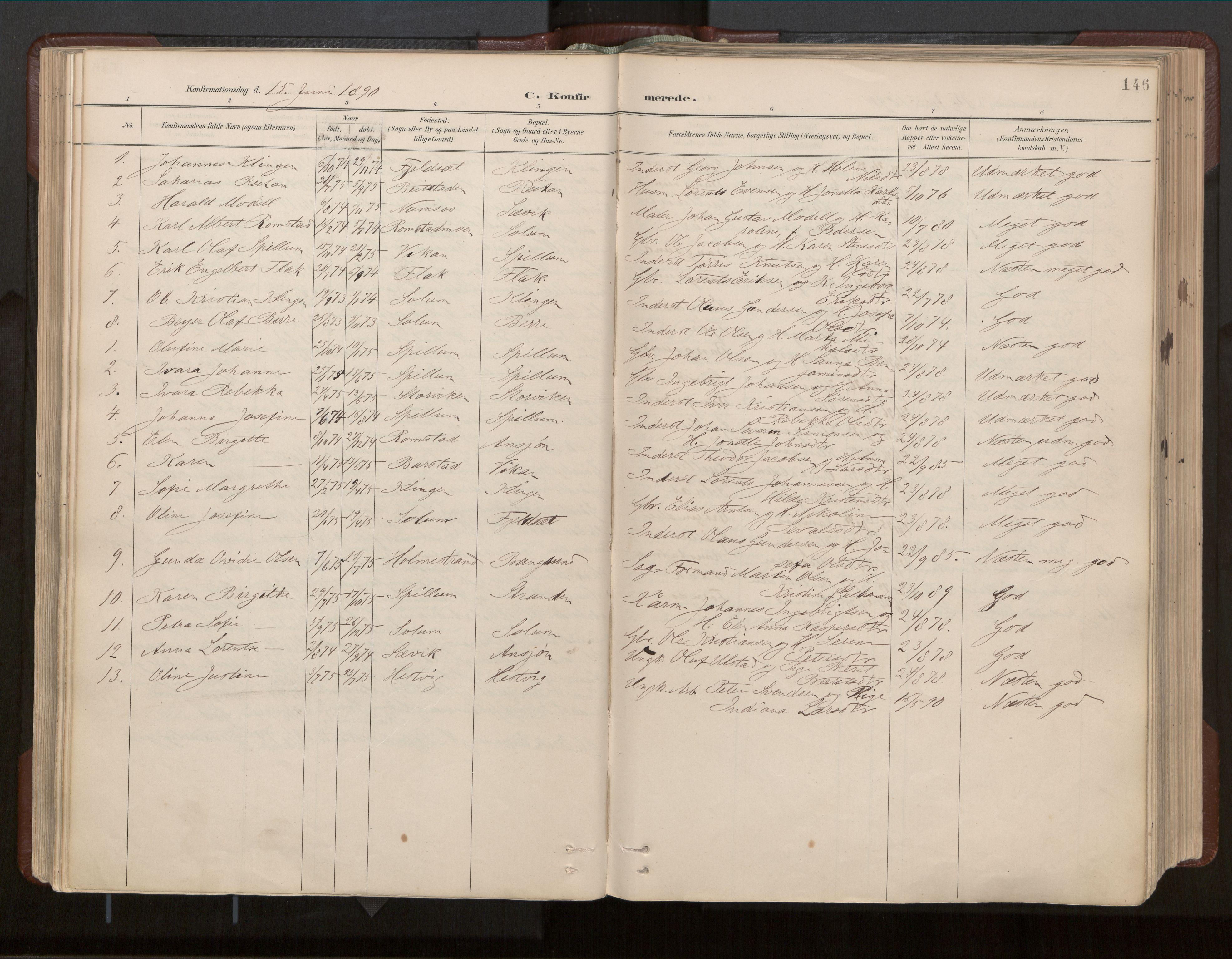 SAT, Ministerialprotokoller, klokkerbøker og fødselsregistre - Nord-Trøndelag, 770/L0589: Ministerialbok nr. 770A03, 1887-1929, s. 146