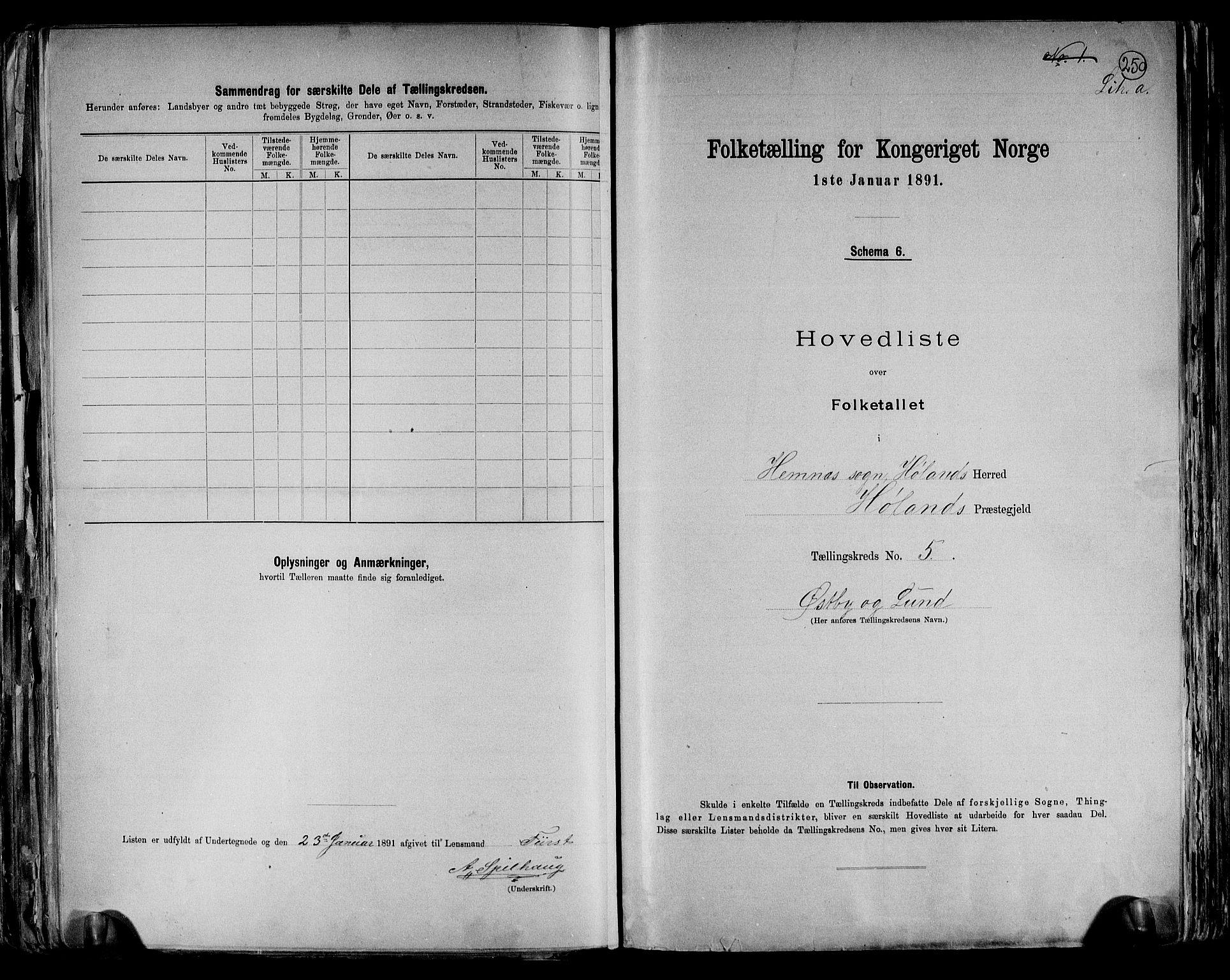 RA, Folketelling 1891 for 0221 Høland herred, 1891, s. 20
