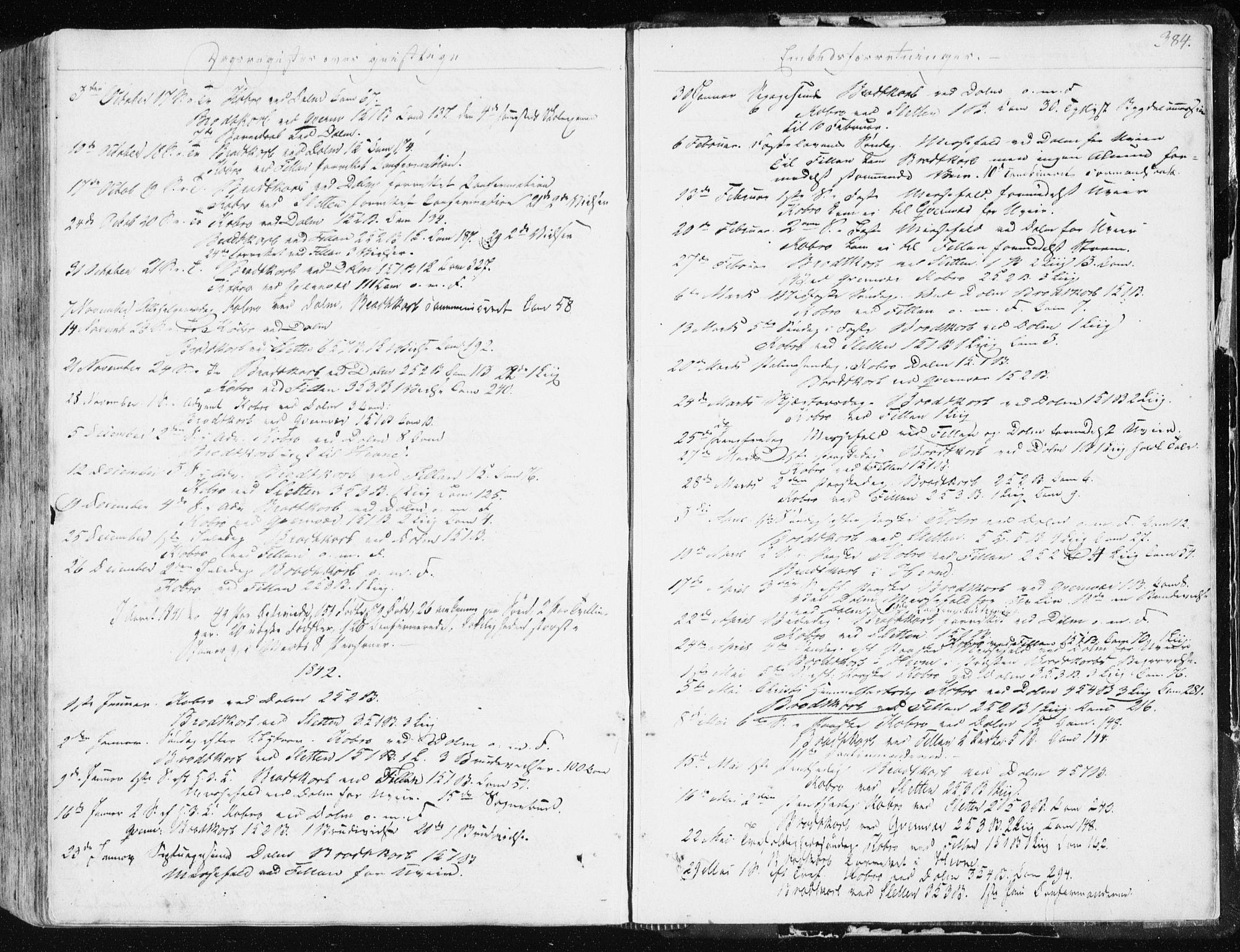 SAT, Ministerialprotokoller, klokkerbøker og fødselsregistre - Sør-Trøndelag, 634/L0528: Ministerialbok nr. 634A04, 1827-1842, s. 384