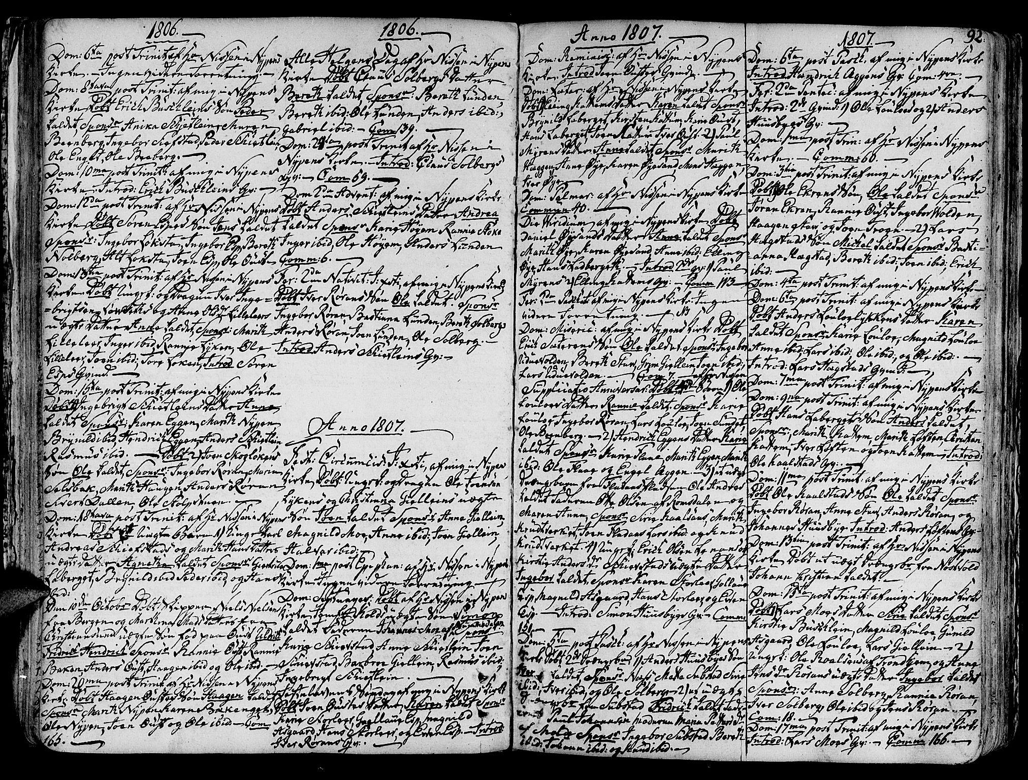SAT, Ministerialprotokoller, klokkerbøker og fødselsregistre - Sør-Trøndelag, 691/L1063: Ministerialbok nr. 691A02 /3, 1768-1815, s. 92