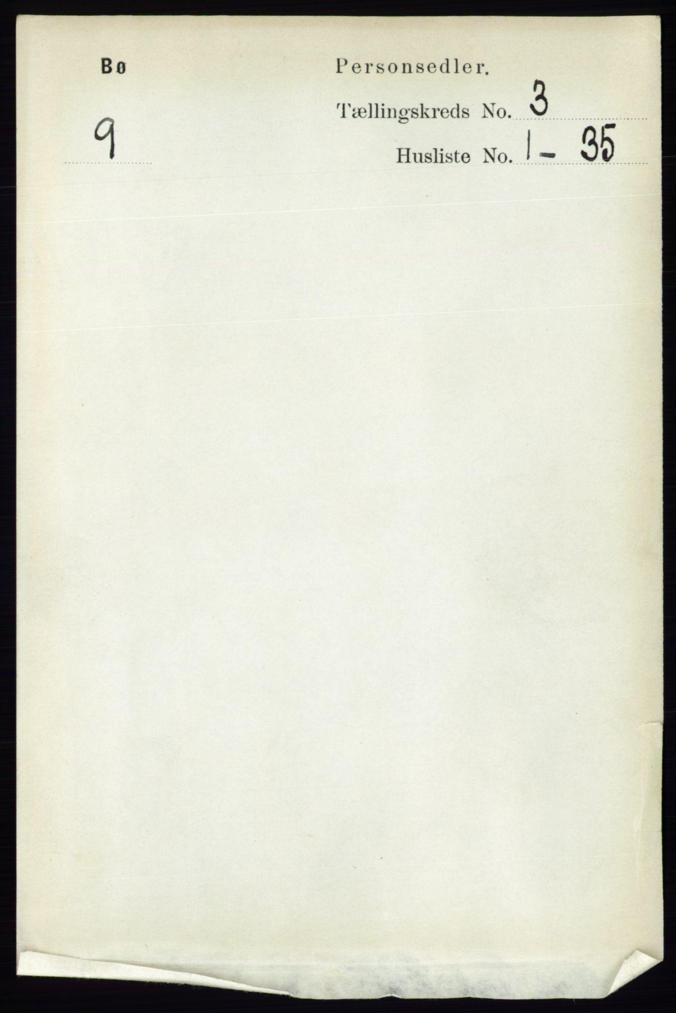 RA, Folketelling 1891 for 0821 Bø herred, 1891, s. 1016