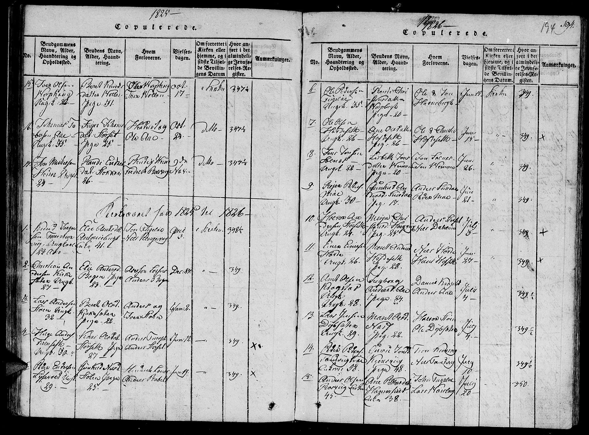 SAT, Ministerialprotokoller, klokkerbøker og fødselsregistre - Sør-Trøndelag, 630/L0491: Ministerialbok nr. 630A04, 1818-1830, s. 194