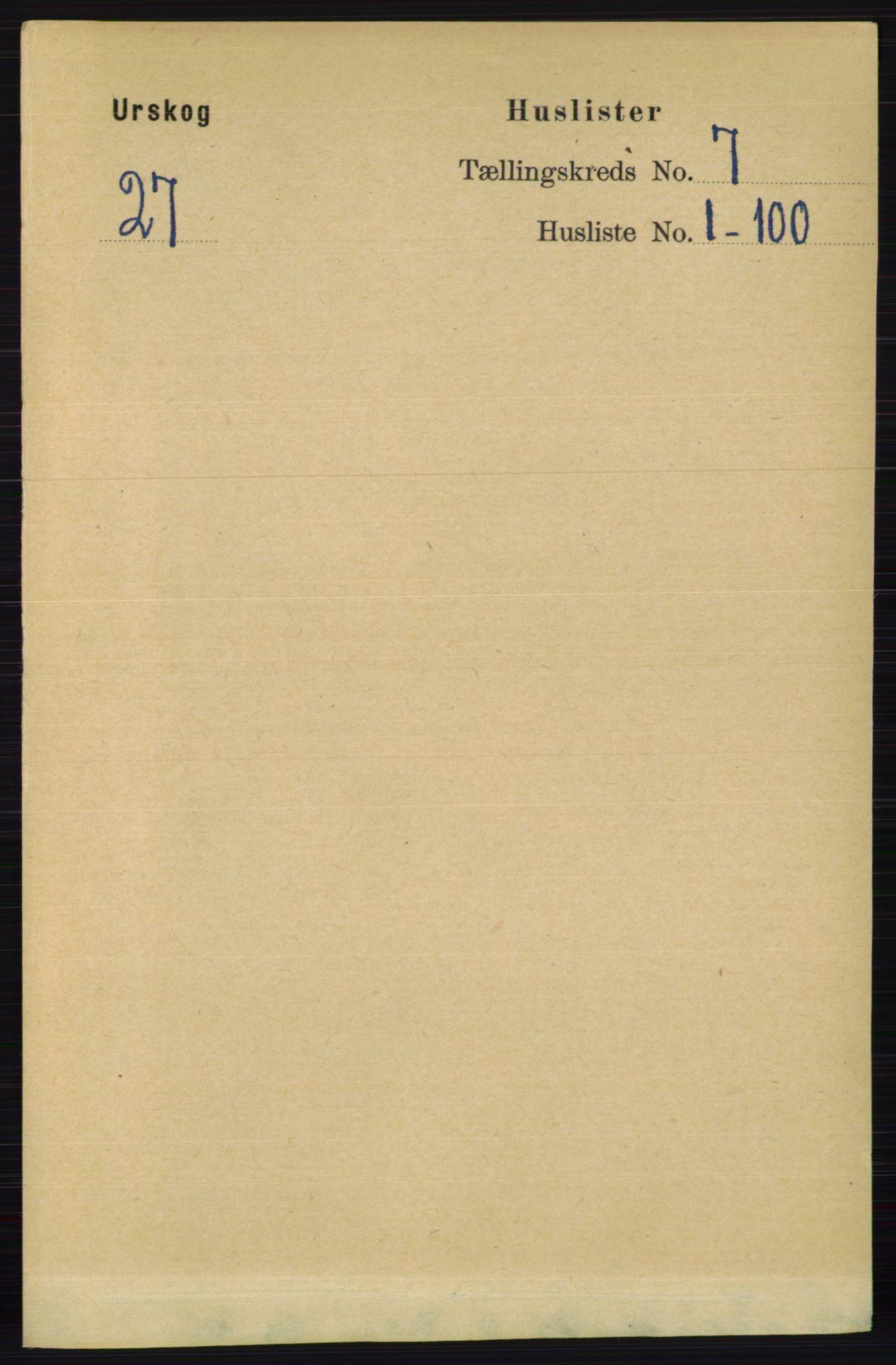 RA, Folketelling 1891 for 0224 Aurskog herred, 1891, s. 3161