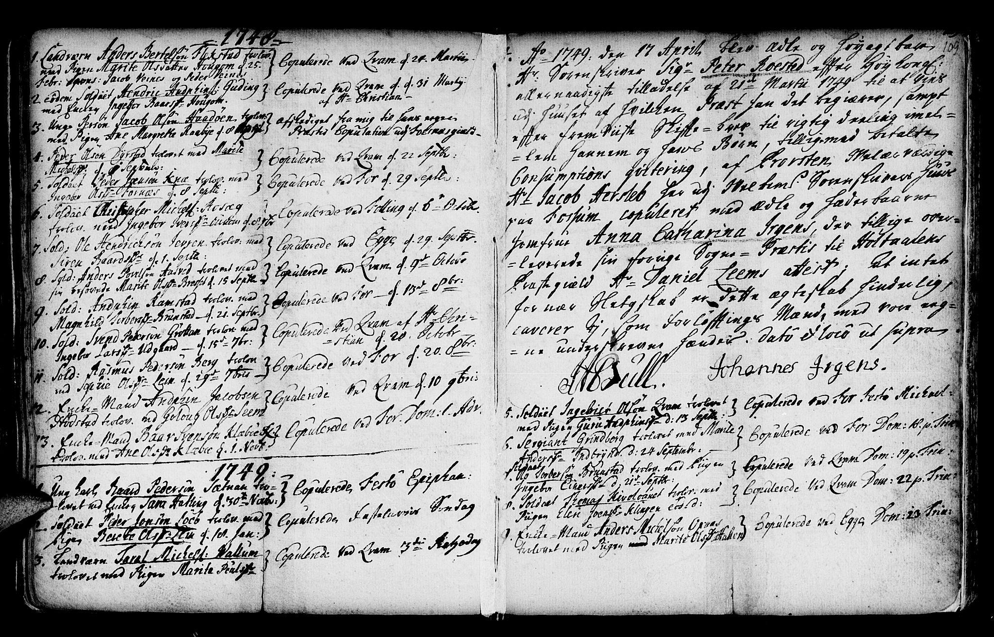 SAT, Ministerialprotokoller, klokkerbøker og fødselsregistre - Nord-Trøndelag, 746/L0439: Ministerialbok nr. 746A01, 1688-1759, s. 109