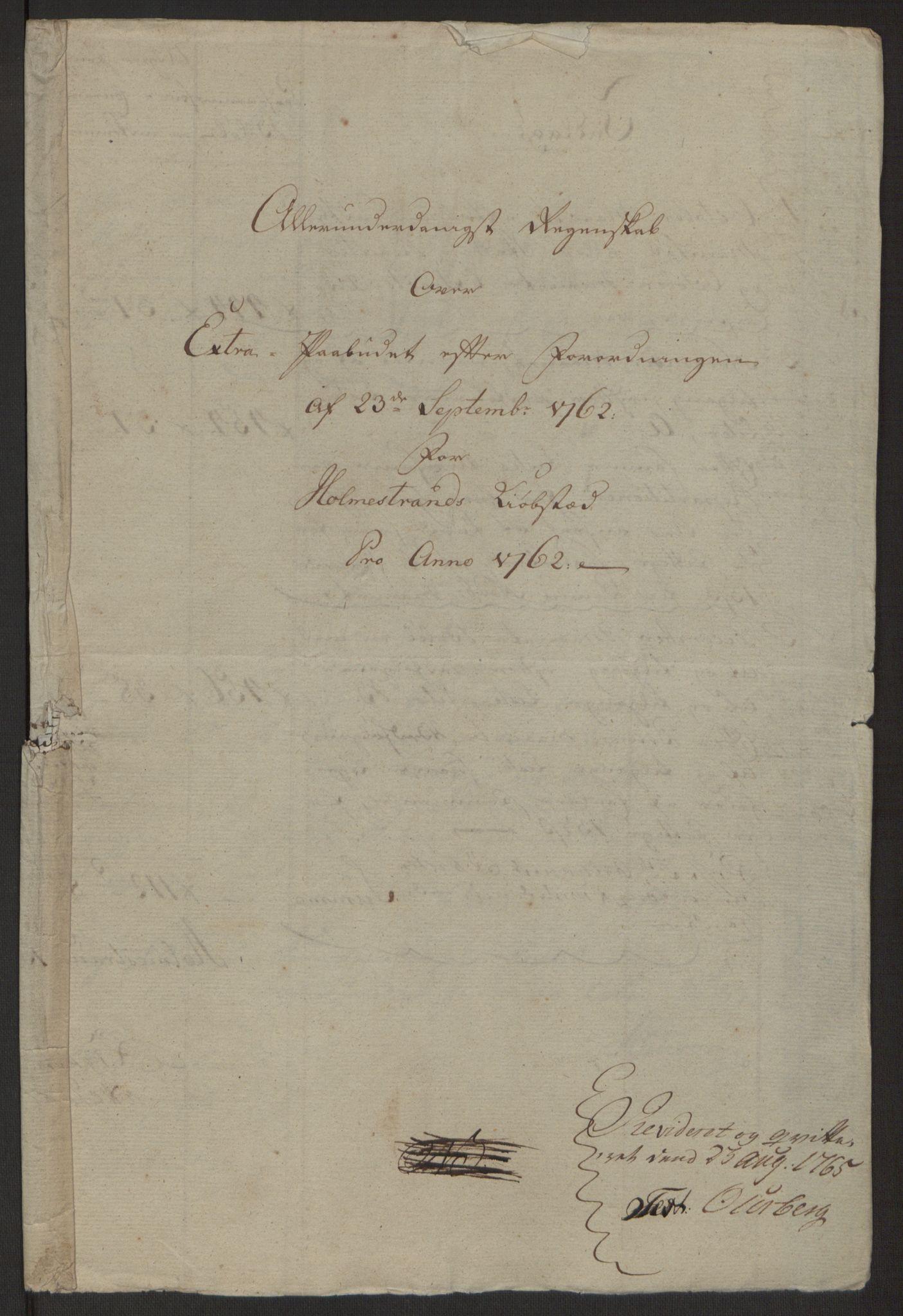 RA, Rentekammeret inntil 1814, Reviderte regnskaper, Byregnskaper, R/Rh/L0163: [H4] Kontribusjonsregnskap, 1762-1772, s. 4
