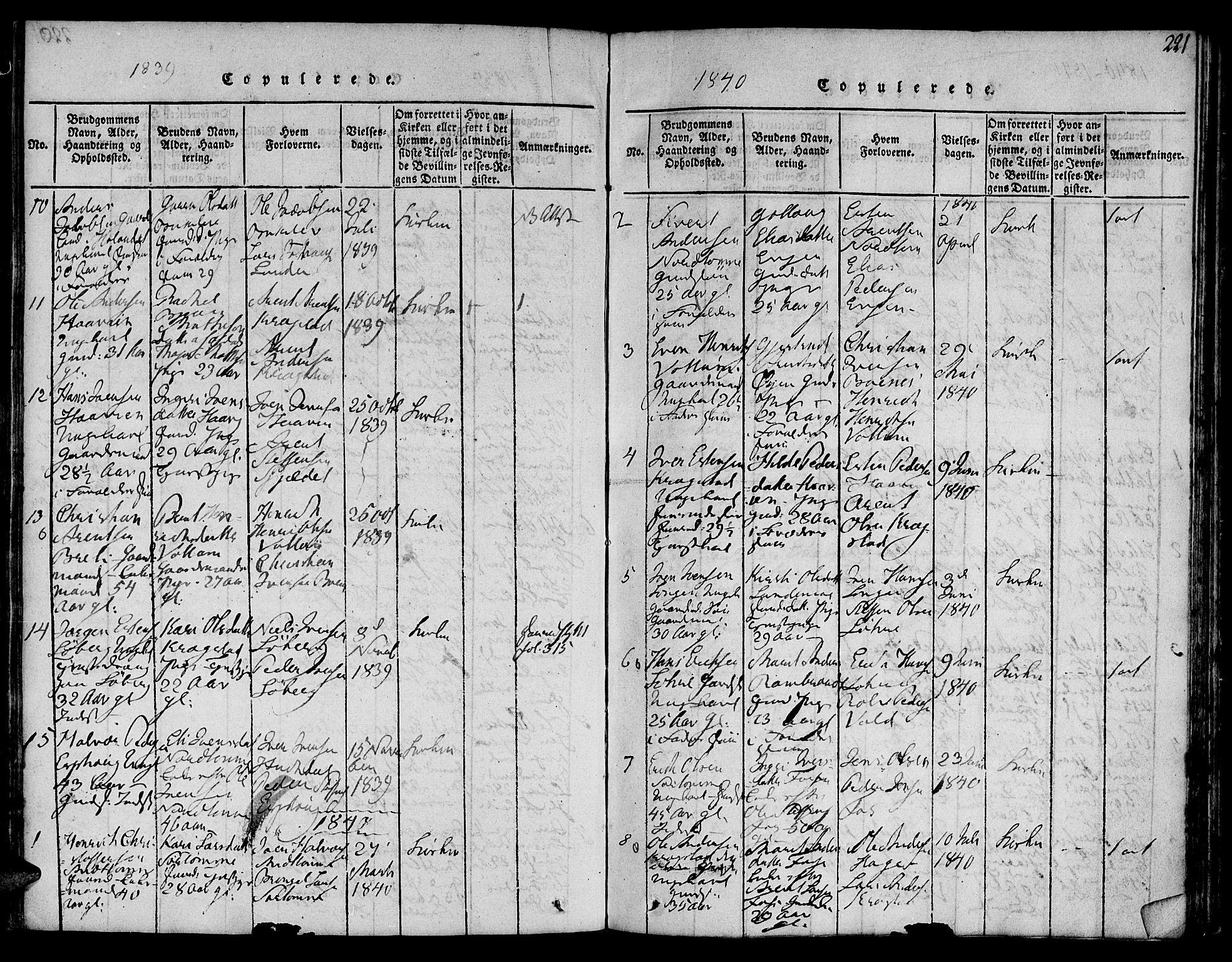SAT, Ministerialprotokoller, klokkerbøker og fødselsregistre - Sør-Trøndelag, 692/L1102: Ministerialbok nr. 692A02, 1816-1842, s. 221