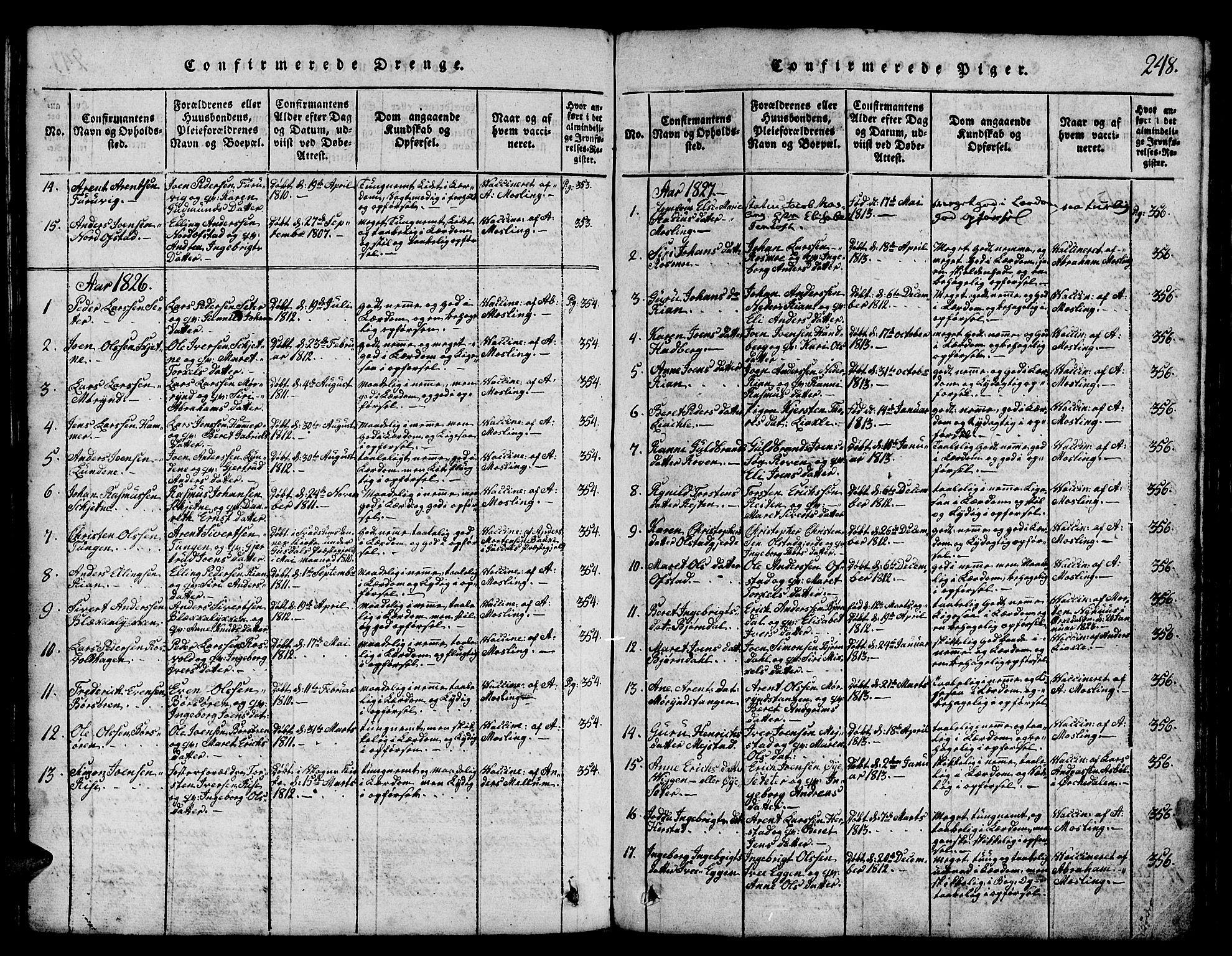 SAT, Ministerialprotokoller, klokkerbøker og fødselsregistre - Sør-Trøndelag, 665/L0776: Klokkerbok nr. 665C01, 1817-1837, s. 248