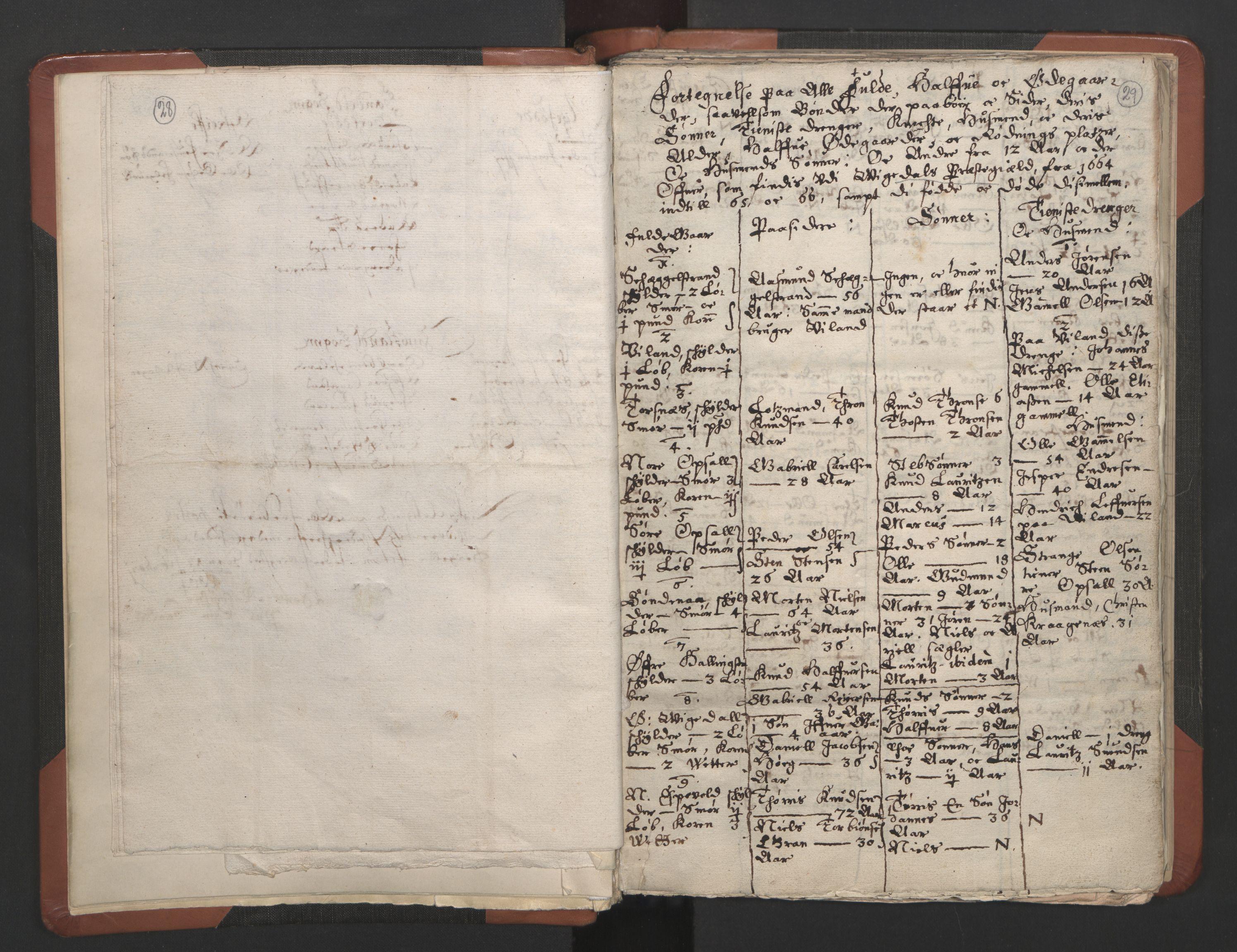 RA, Sogneprestenes manntall 1664-1666, nr. 19: Ryfylke prosti, 1664-1666, s. 28-29
