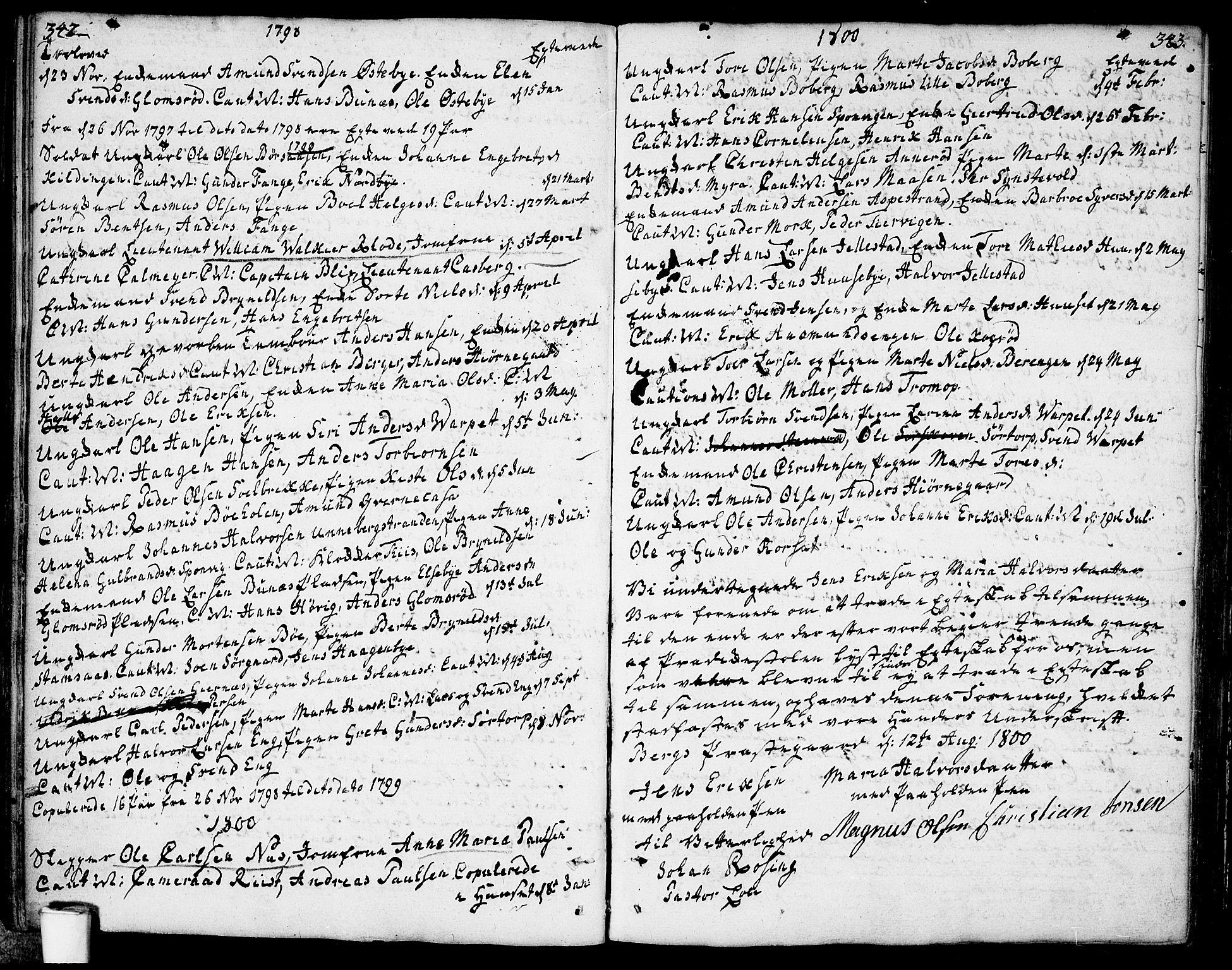 SAO, Berg prestekontor Kirkebøker, F/Fa/L0001: Ministerialbok nr. I 1, 1770-1814, s. 342-343