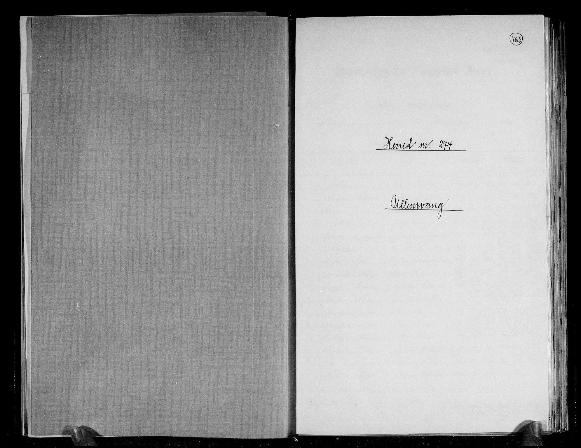 RA, Folketelling 1891 for 1230 Ullensvang herred, 1891, s. 1