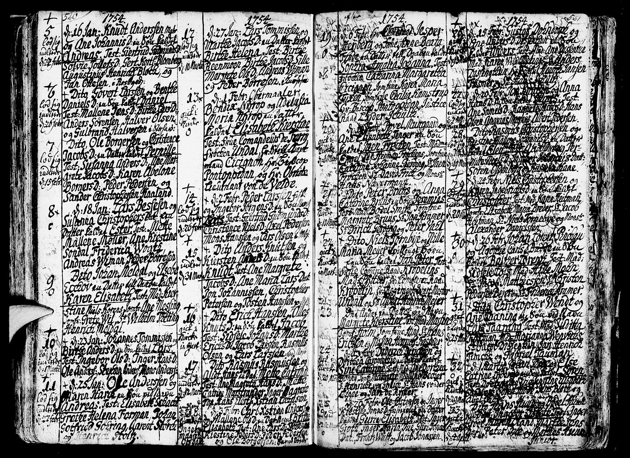 SAB, Nykirken Sokneprestembete, H/Haa: Ministerialbok nr. A 3, 1717-1764, s. 257