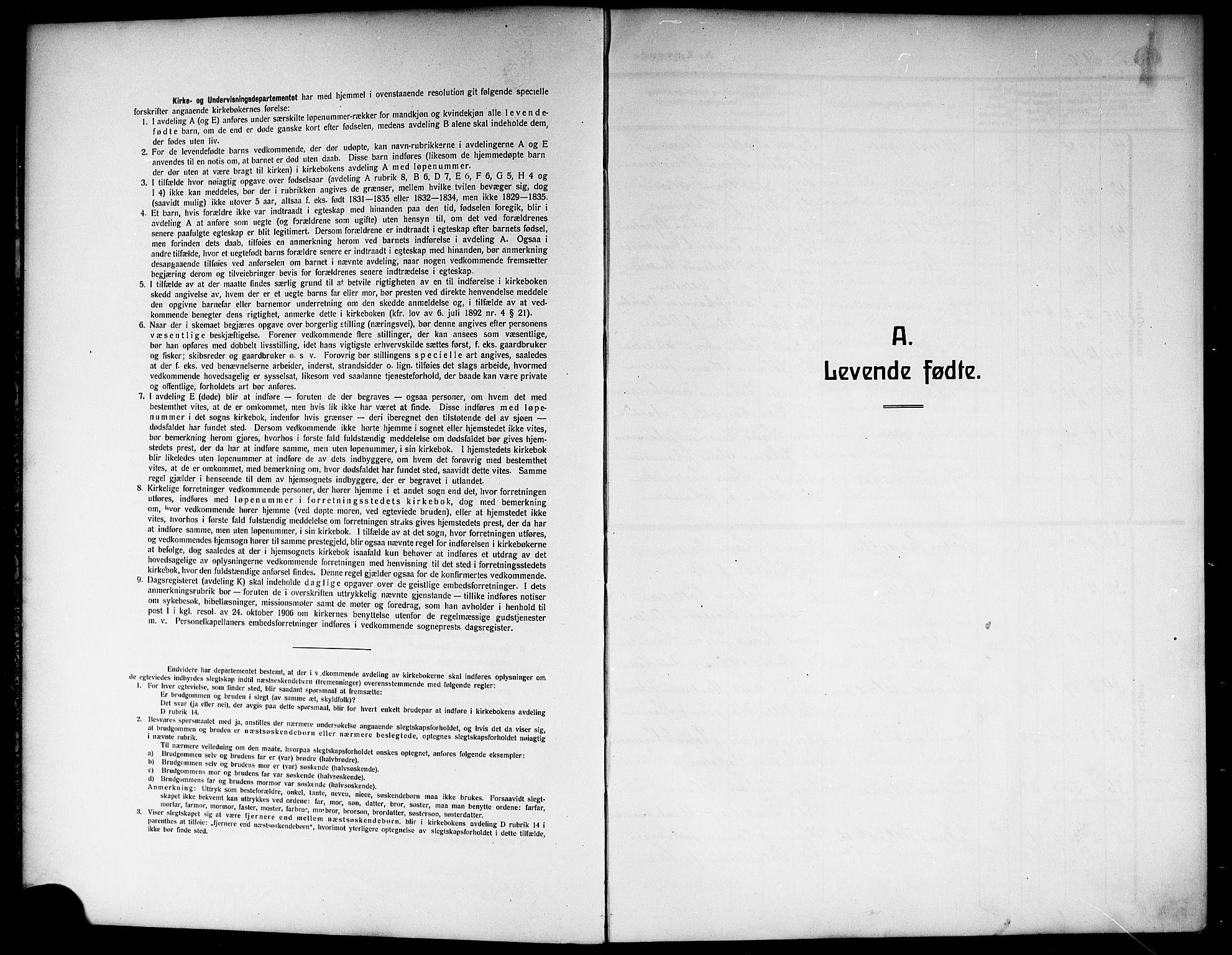 SAKO, Skien kirkebøker, G/Ga/L0009: Klokkerbok nr. 9, 1910-1920