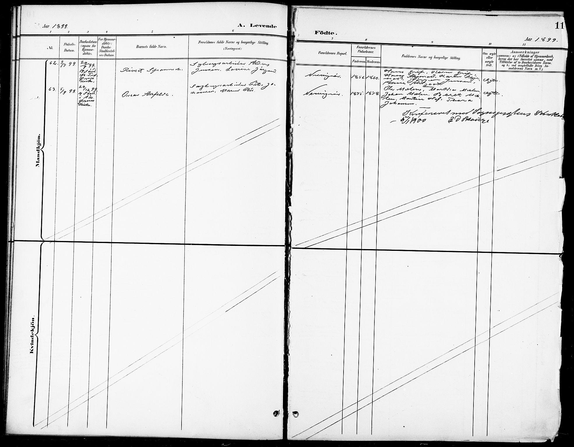 SAT, Ministerialprotokoller, klokkerbøker og fødselsregistre - Sør-Trøndelag, 668/L0819: Klokkerbok nr. 668C08, 1899-1912, s. 11