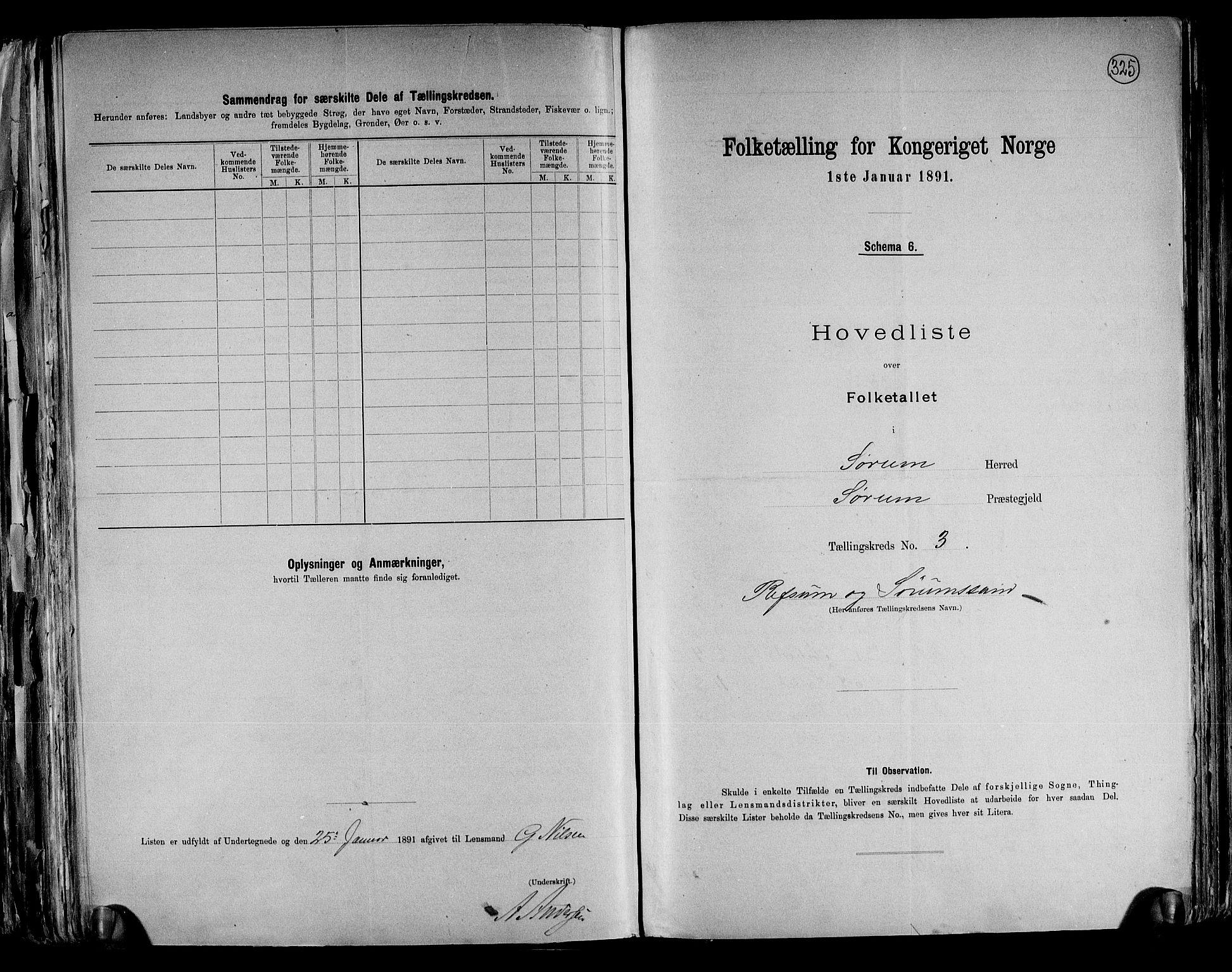 RA, Folketelling 1891 for 0226 Sørum herred, 1891, s. 10