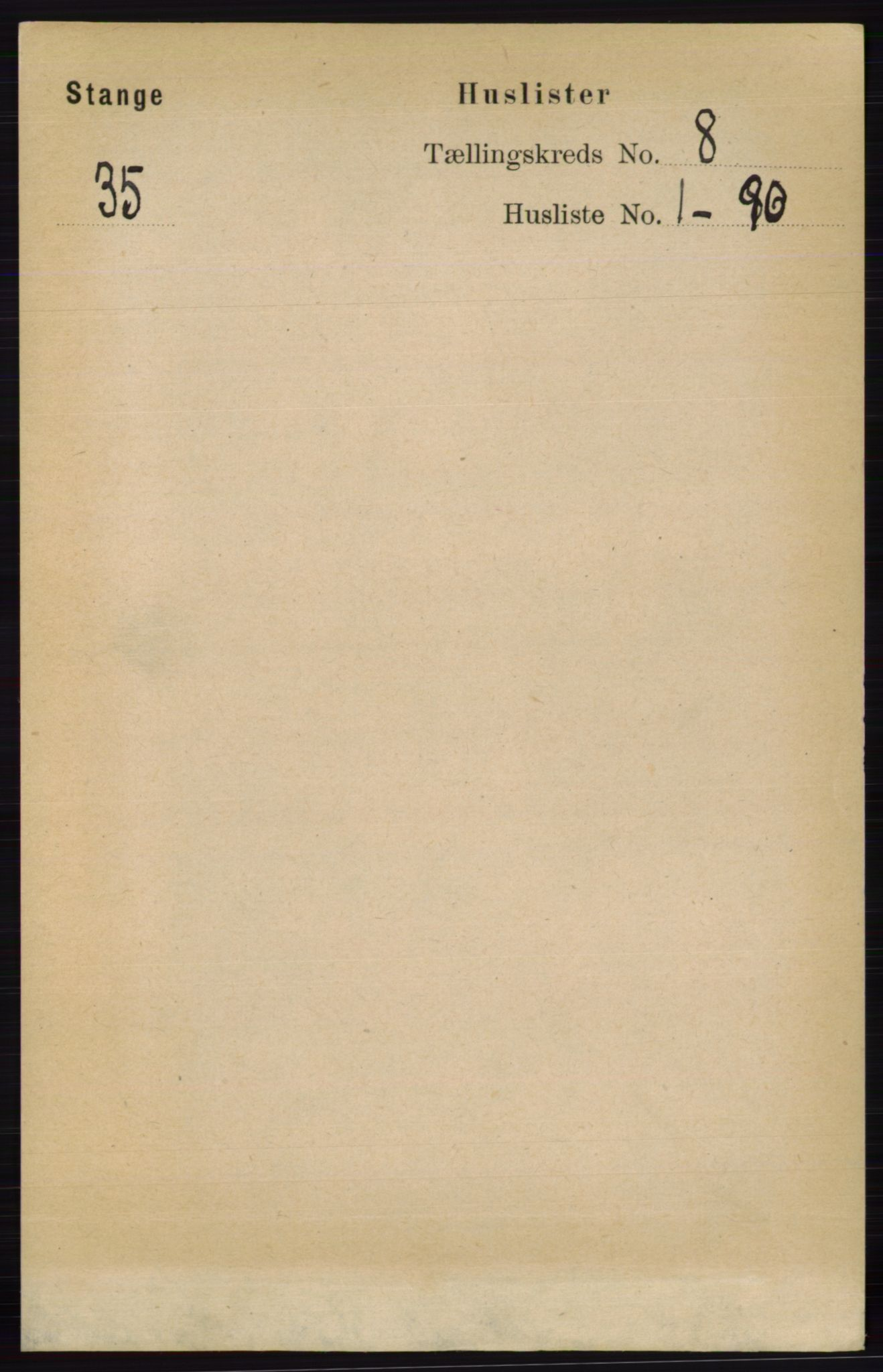 RA, Folketelling 1891 for 0417 Stange herred, 1891, s. 5242