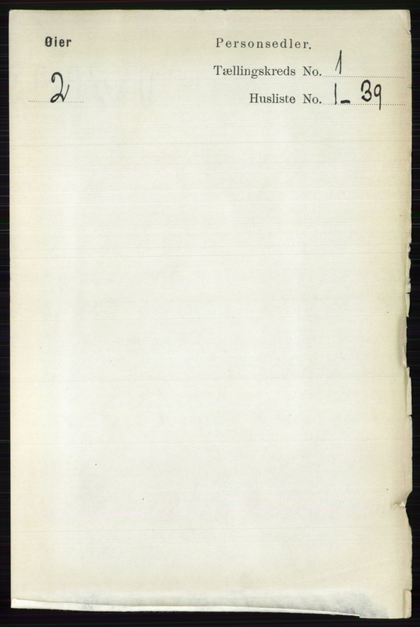 RA, Folketelling 1891 for 0521 Øyer herred, 1891, s. 98